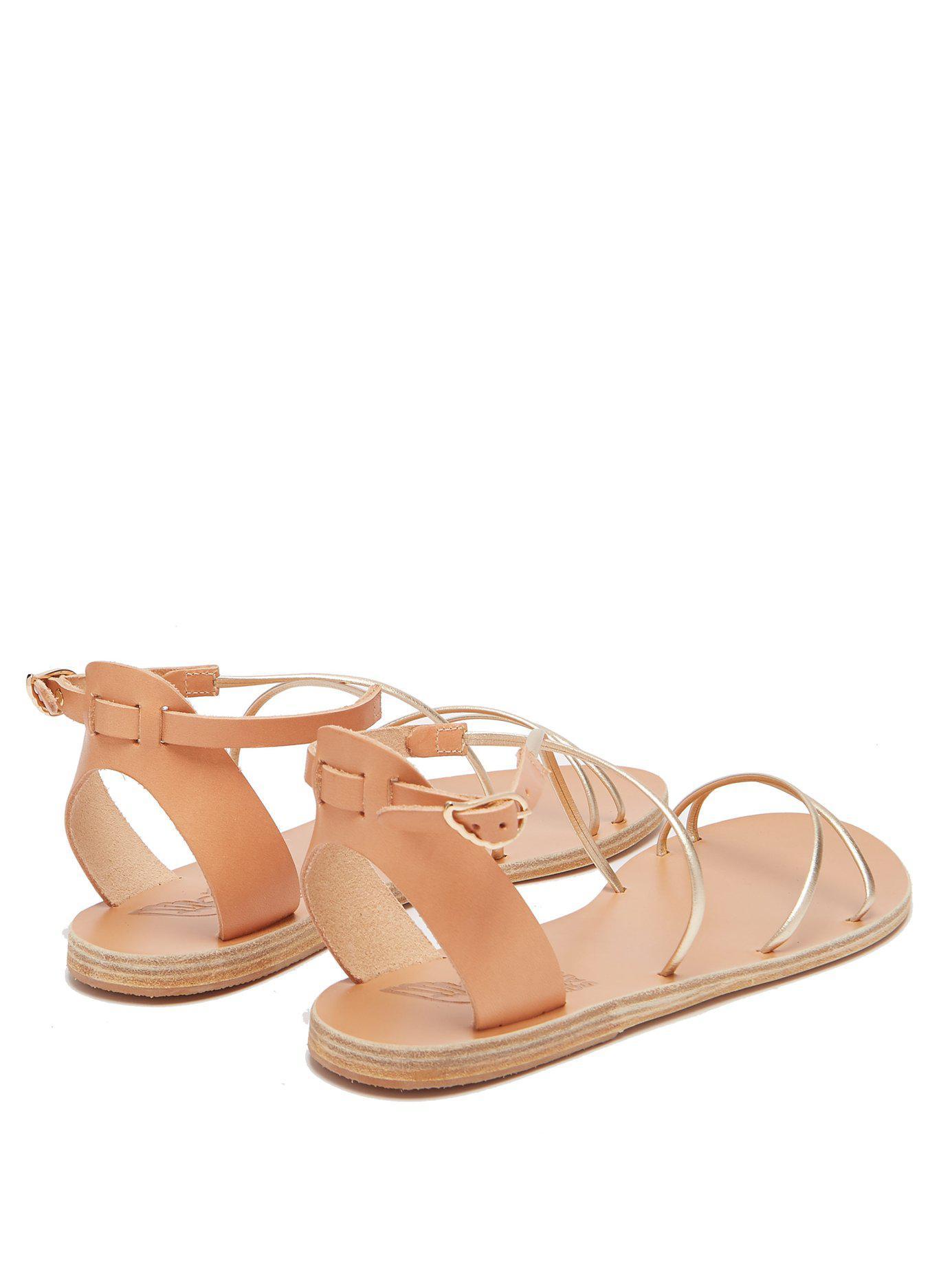 69620f018 Lyst - Ancient Greek Sandals Meloivia Metallic Leather Sandals in Metallic
