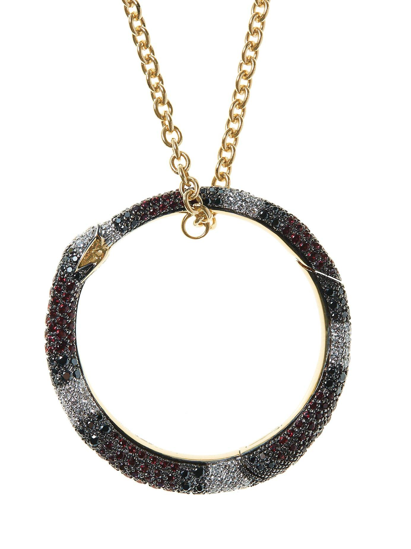 0268ff907 Gucci - Metallic Ouroboros 18kt Gold, Diamond & Sapphire Necklace - Lyst.  View fullscreen