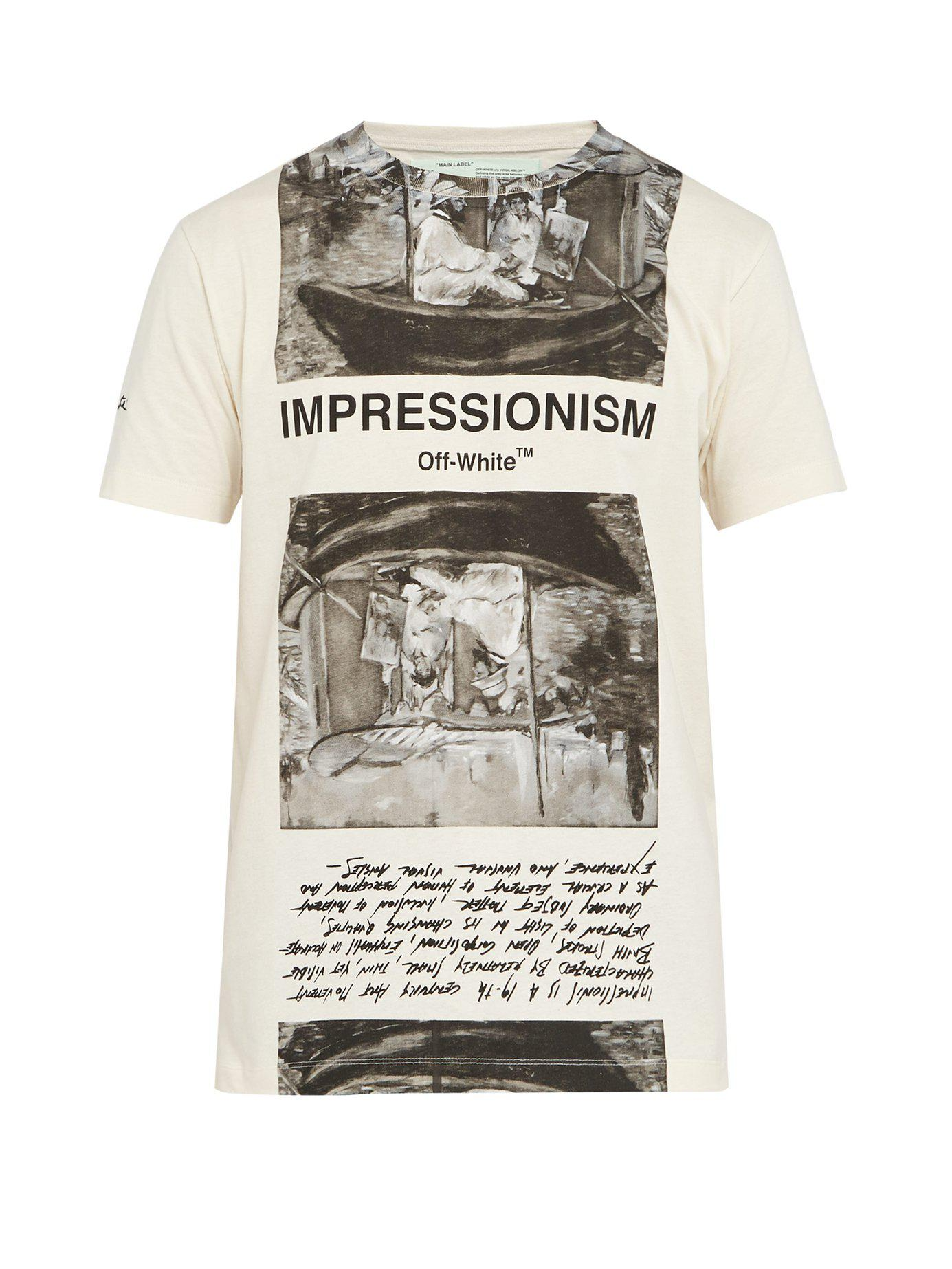 803f6bb2cb0c45 Lyst - Off-White c o Virgil Abloh Impressionism Print T Shirt for ...