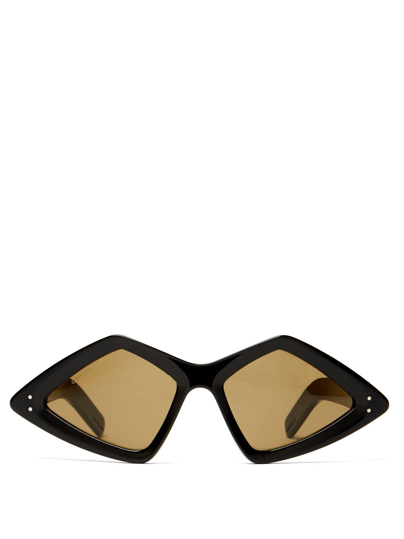 eb916b225621 ... Diamond Frame Acetate Sunglasses - Lyst. View fullscreen