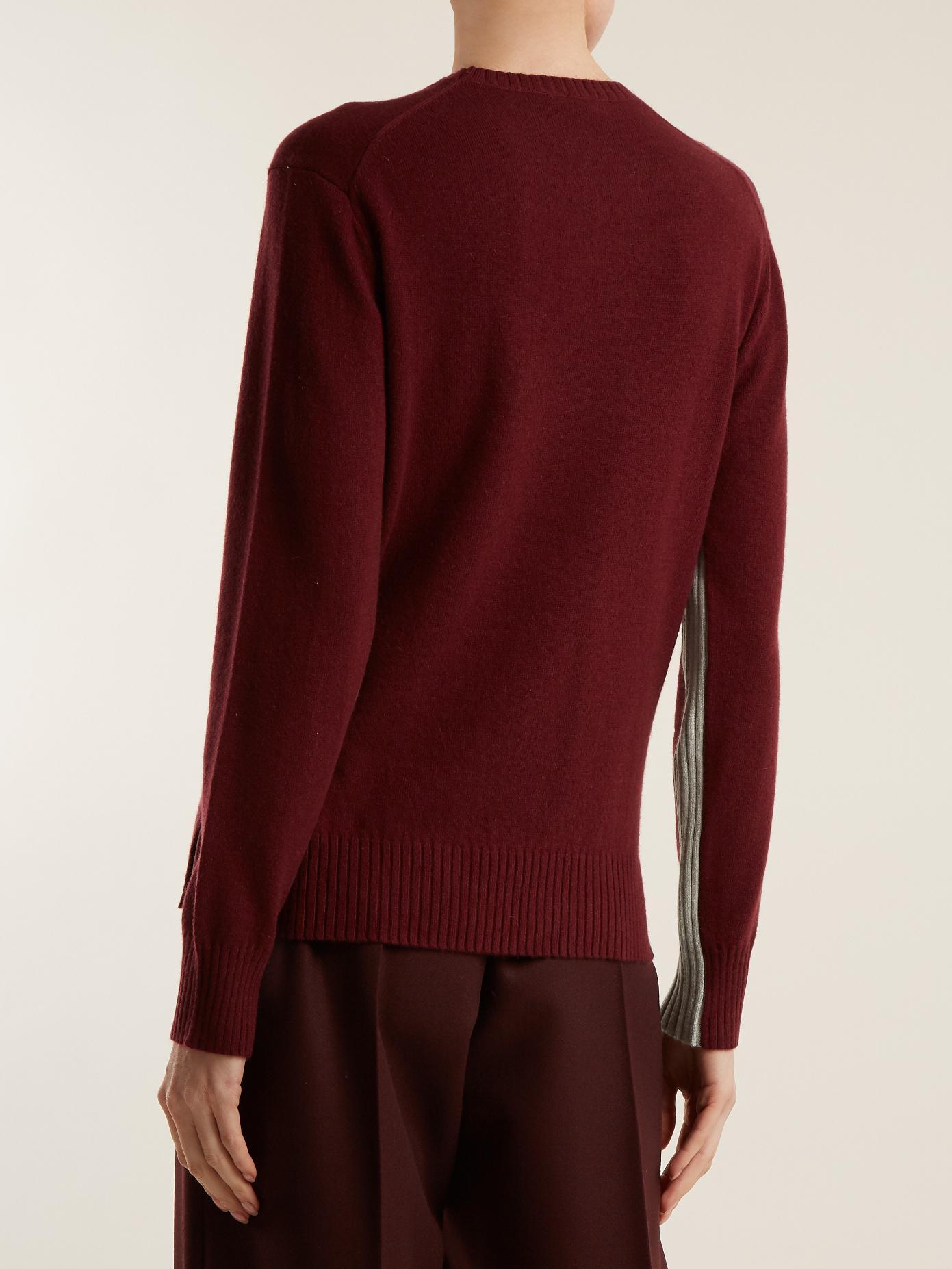 Joseph Morgon Contrast-panel Cashmere Sweater | Lyst