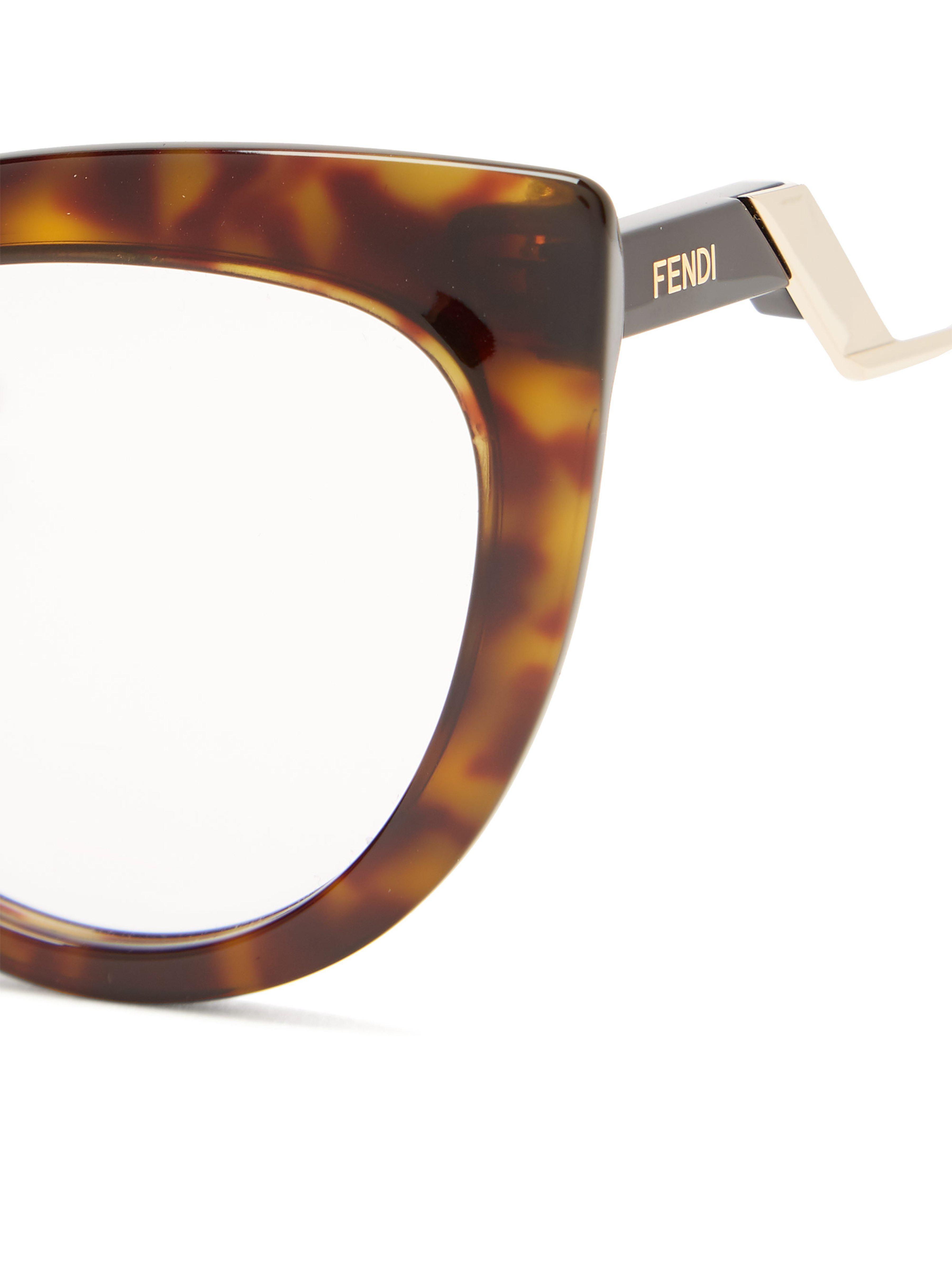 fa4c57e20354 ... Fendi - Brown Cat Eye Tortoiseshell Acetate Glasses - Lyst. Visit  MATCHESFASHION.COM. Tap to visit site