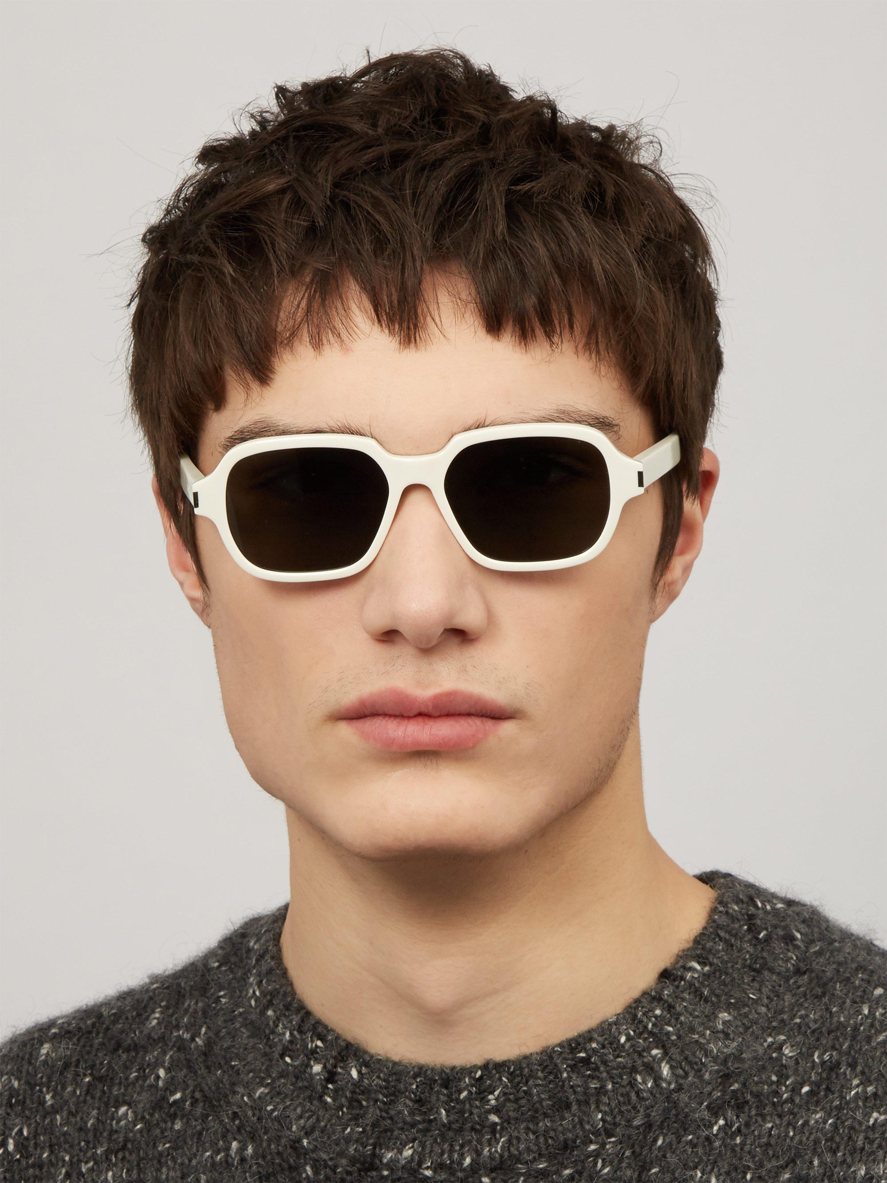 956659a31ba2 Saint Laurent D Frame Acetate Sunglasses in White for Men - Lyst
