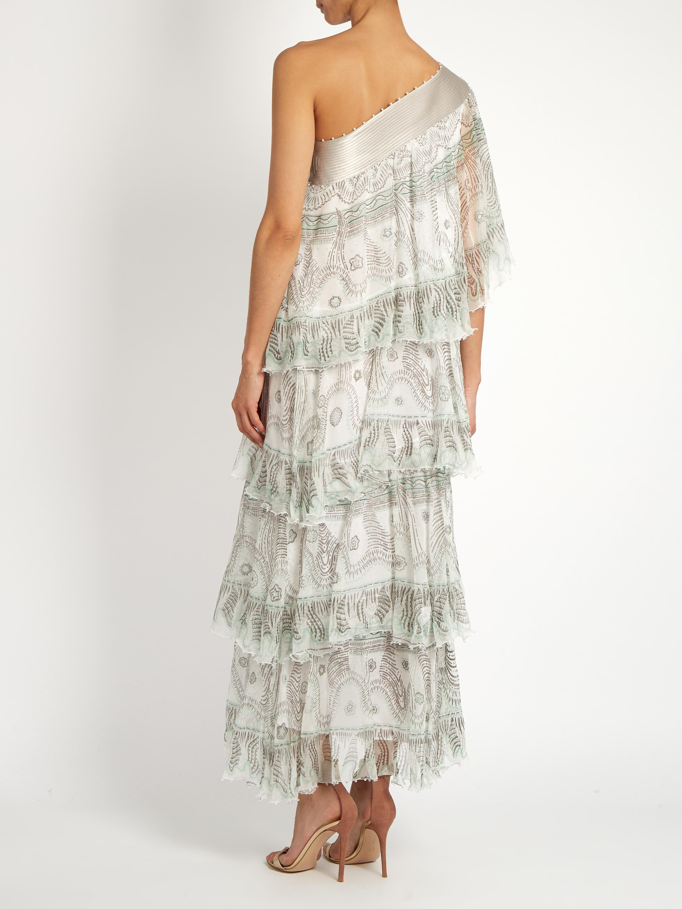 Zandra Rhodes Archive I The 1984 Frilly Circle Dress in White - Lyst