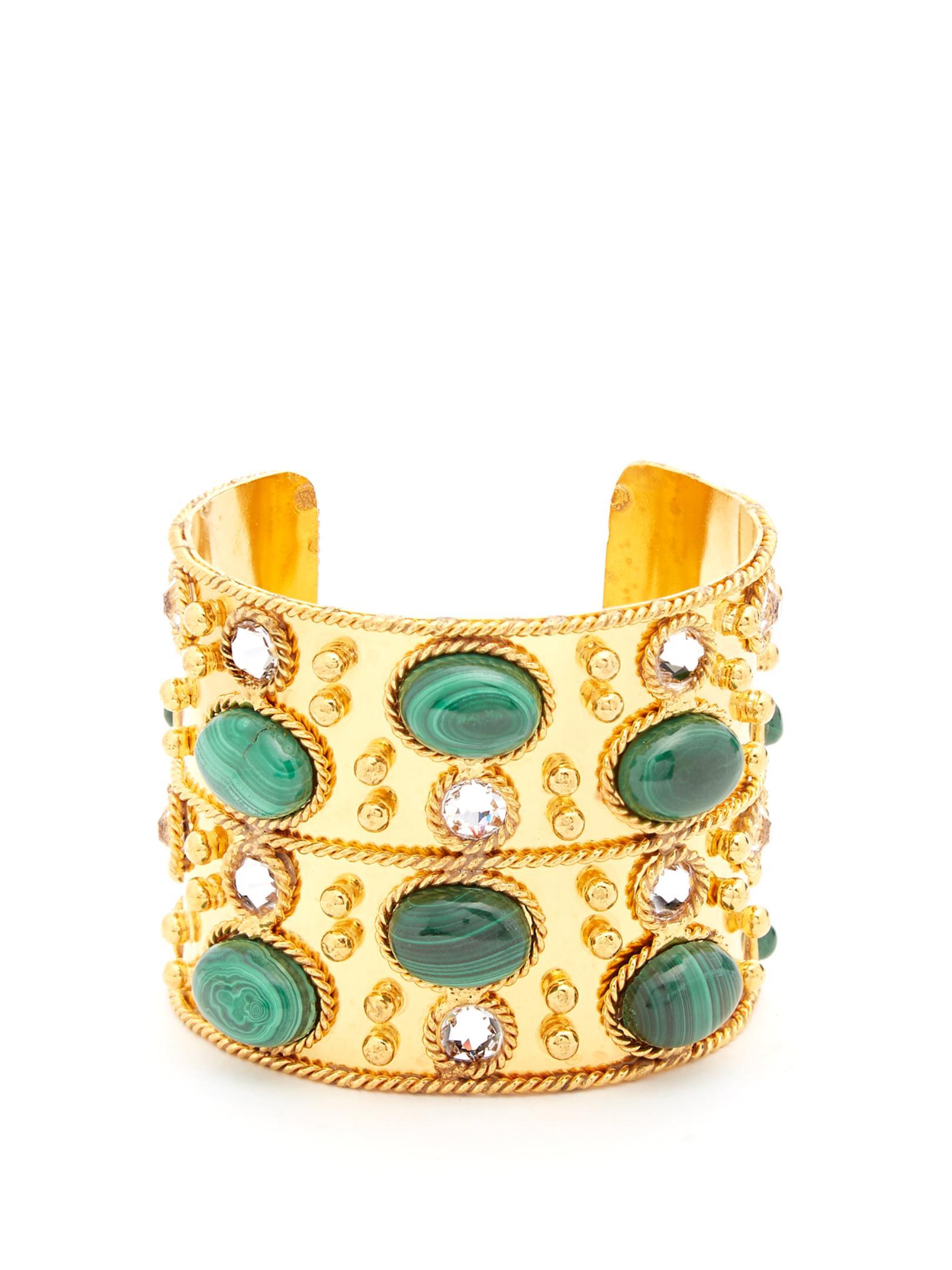 Sylvia Toledano Byzance Cuff Bracelet in Gold-Plated Brass idAHH