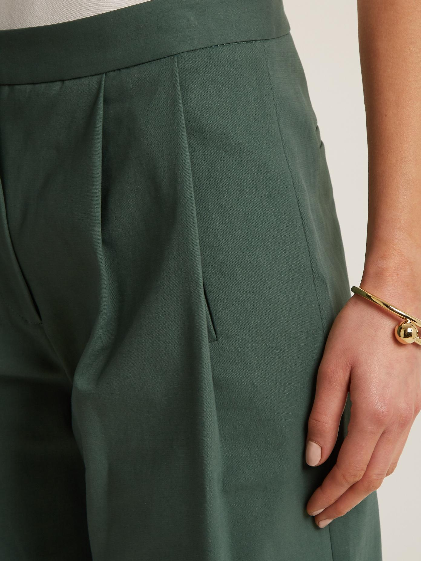High-waisted stretch-cotton culottes Adam Lippes Cheap Sale Top Quality Fake Cheap Online Visa Payment BHNMr