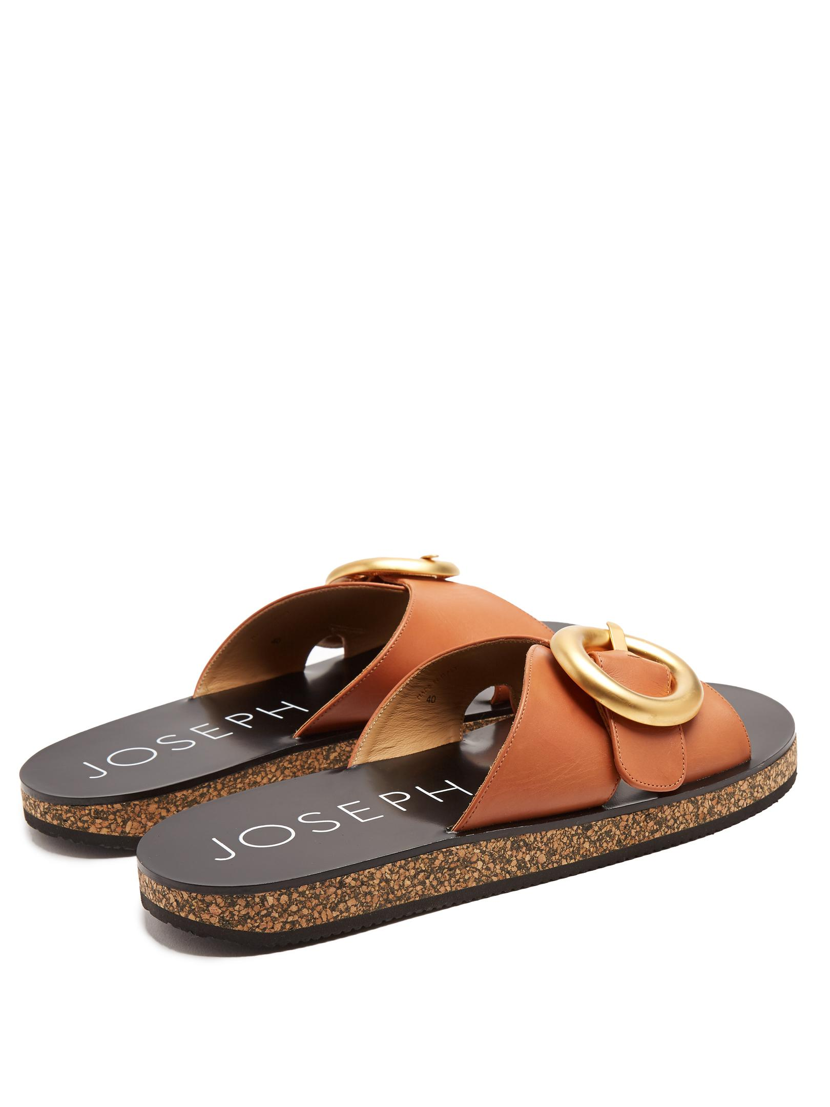 Joseph Leather slides free shipping 2014 new best seller buy cheap latest collections buy cheap classic amazing price sale online R4OfSrGWs1