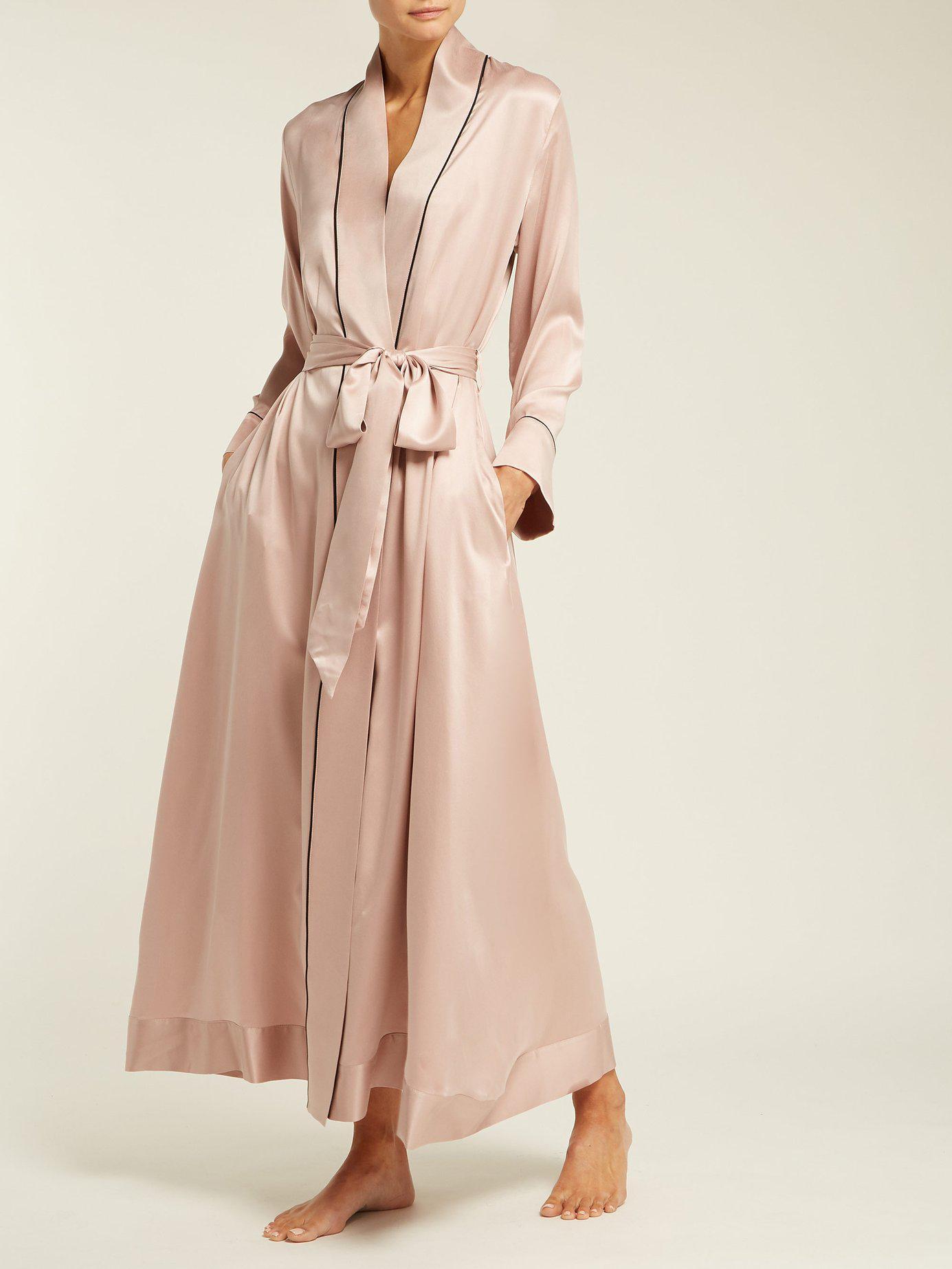 d4be0a8bfb Morpho + Luna - Pink Jade Silk Robe - Lyst. View fullscreen