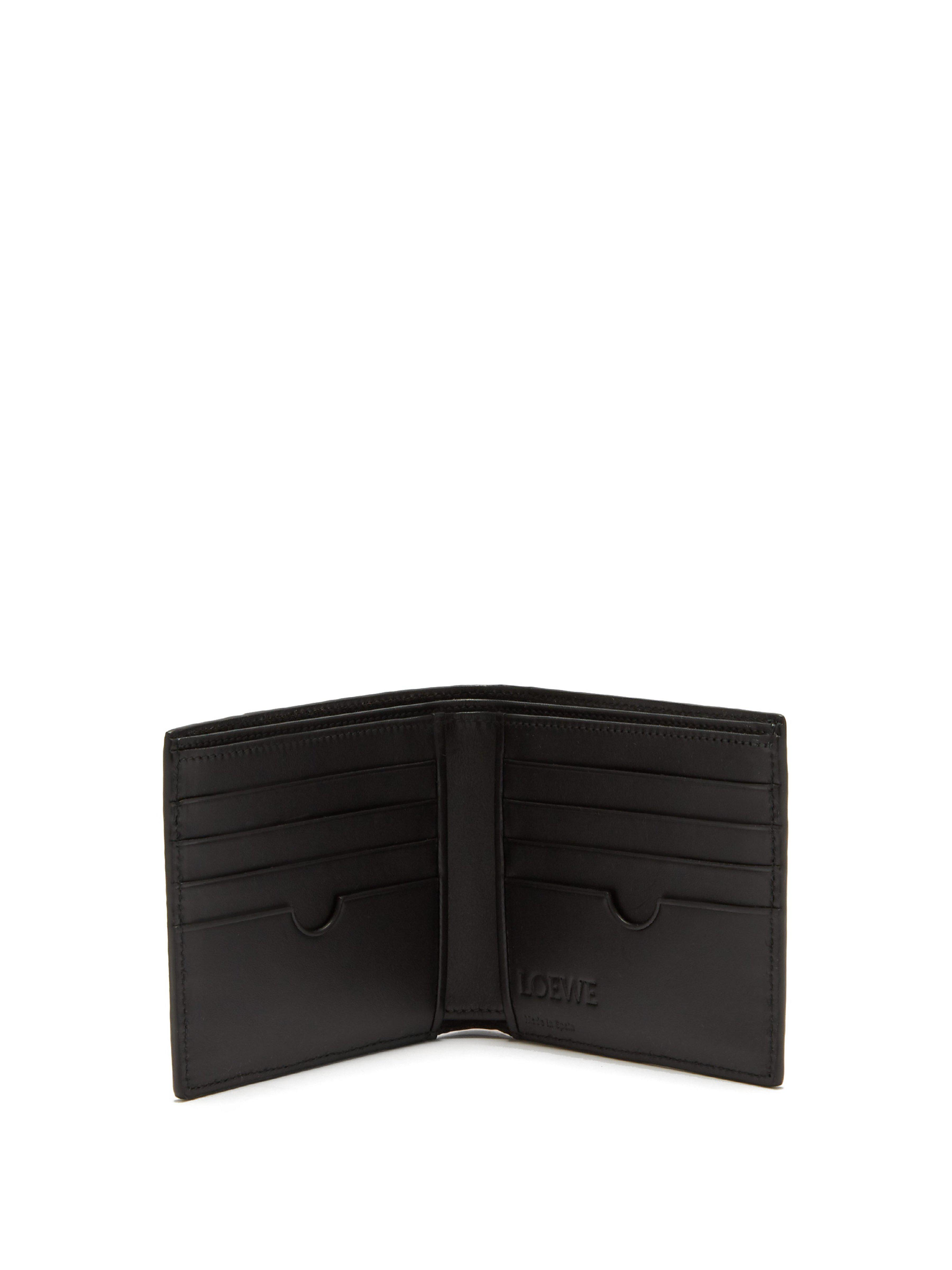 6ee7802b12503a Loewe Puzzle Grained Leather Bi Fold Wallet for Men - Lyst