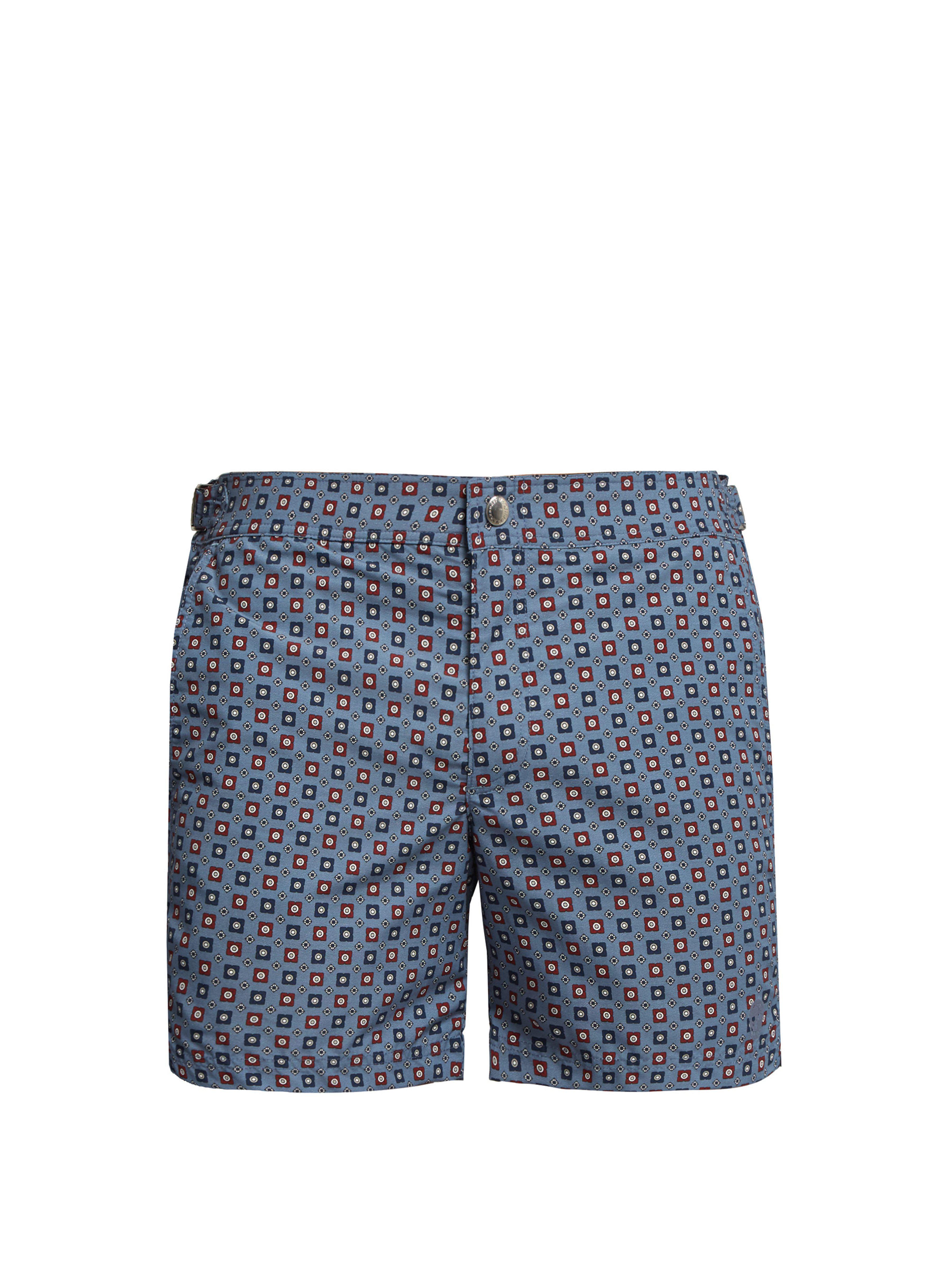 0ff045169f Alexander McQueen Floral Print Swim Shorts in Blue for Men - Lyst