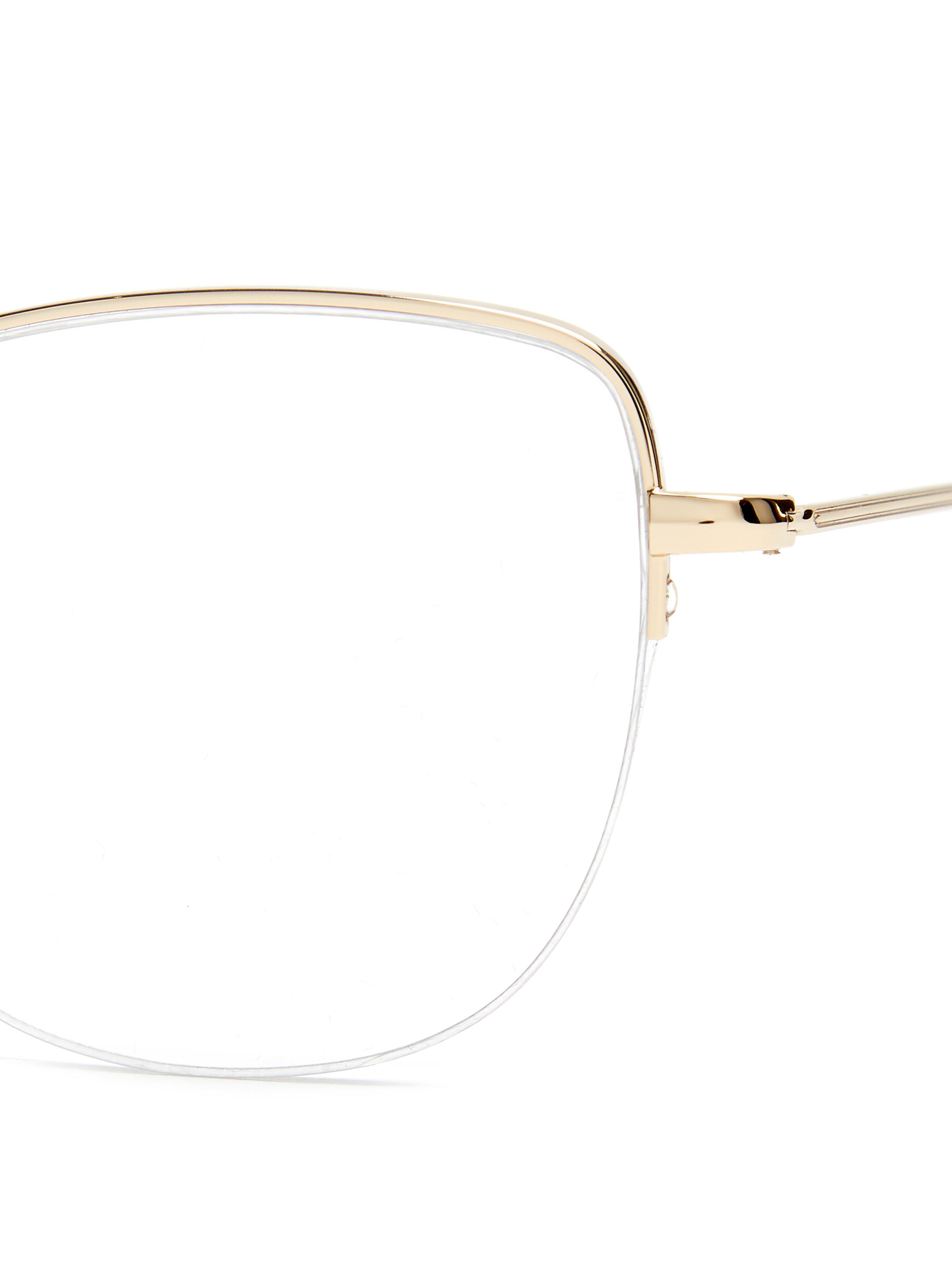 4c84bb1c46f Garrett Leight Pershing 54 Square Frame Glasses - Lyst