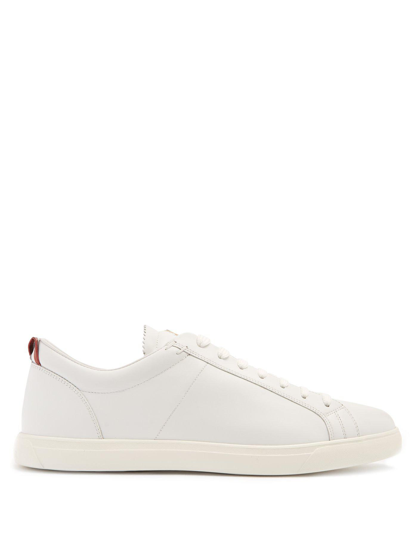 866a0c217 Lyst - Moncler La Monaco Low Top Leather Trainers in White for Men ...