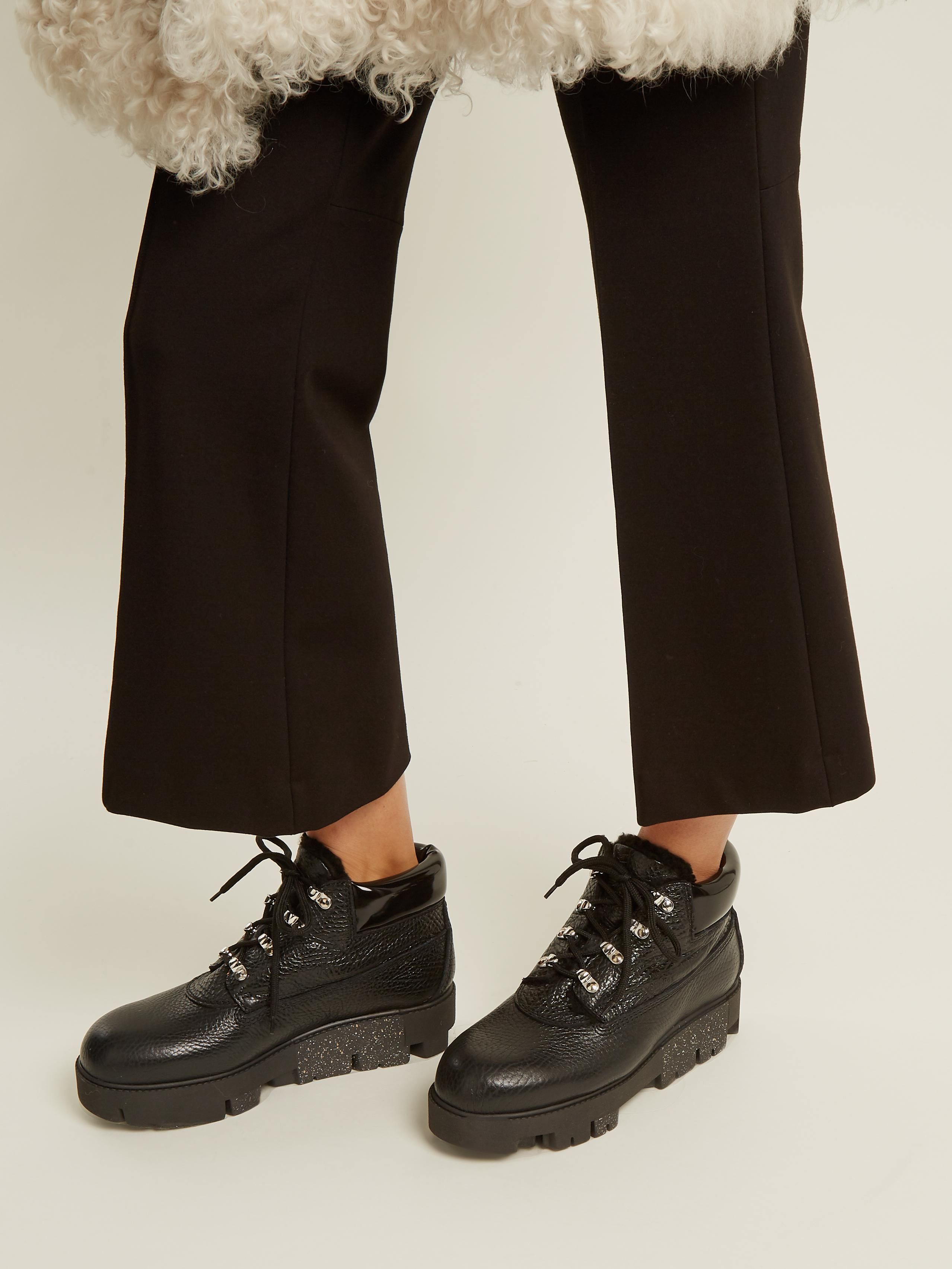 552b9ec2334 Acne Studios Tinne Track-sole Leather Ankle Boots in Black - Lyst
