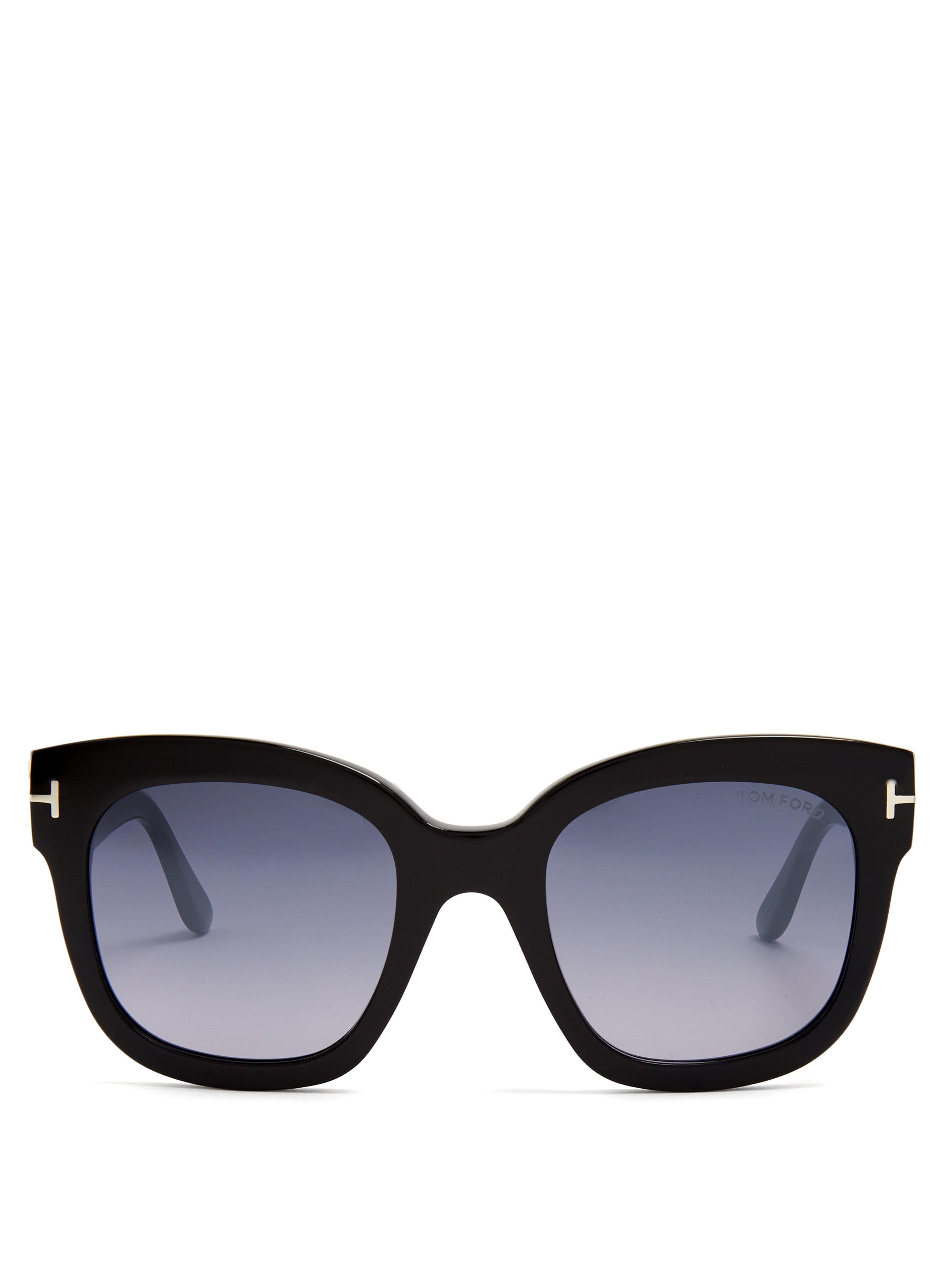 d5c9aa00f29808 Lyst - Lunettes de soleil carrées Beatrix Tom Ford en coloris Noir