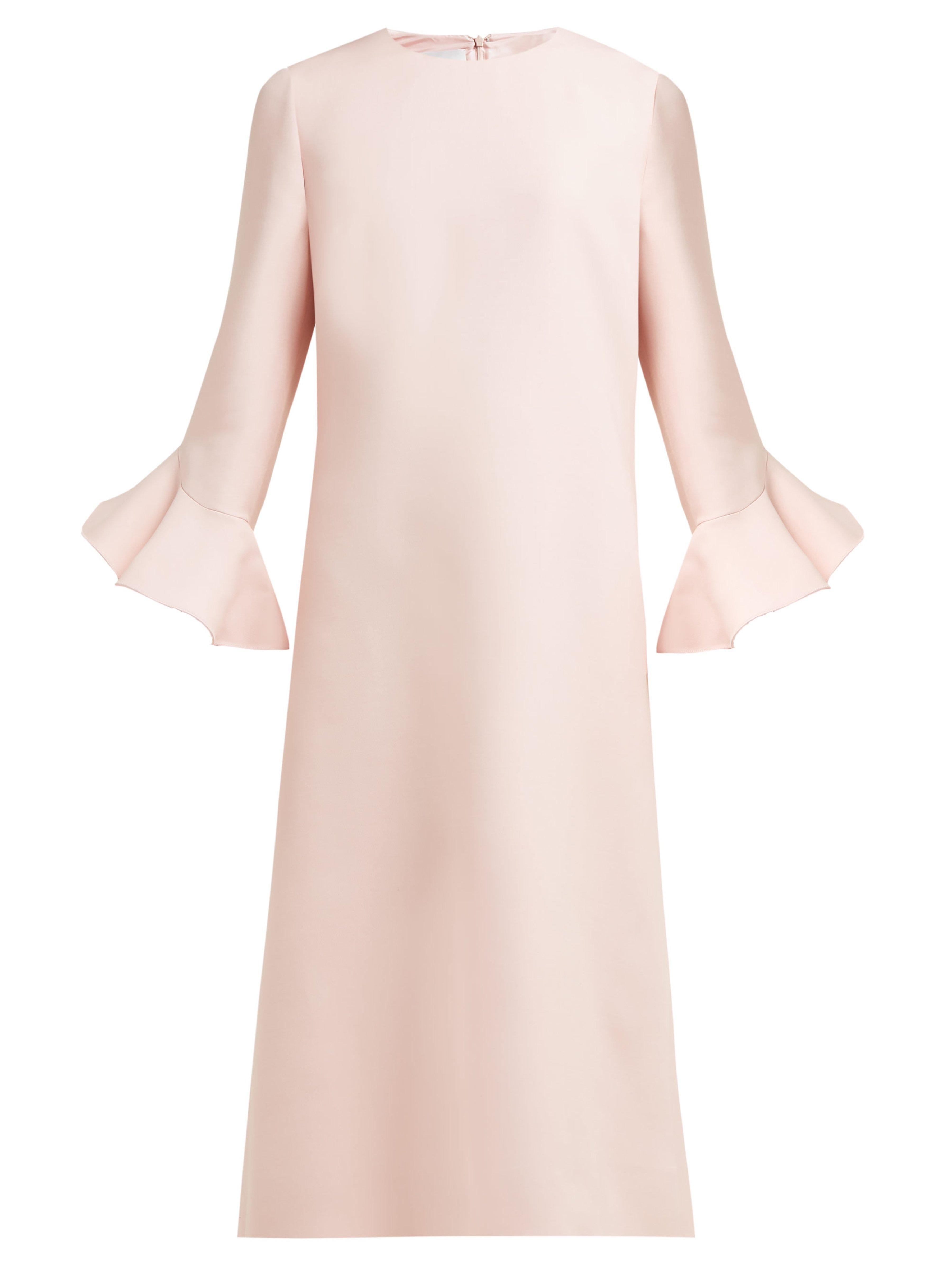 3477189b01 Valentino Fluted Wool And Silk Bend Midi Dress in Pink - Lyst