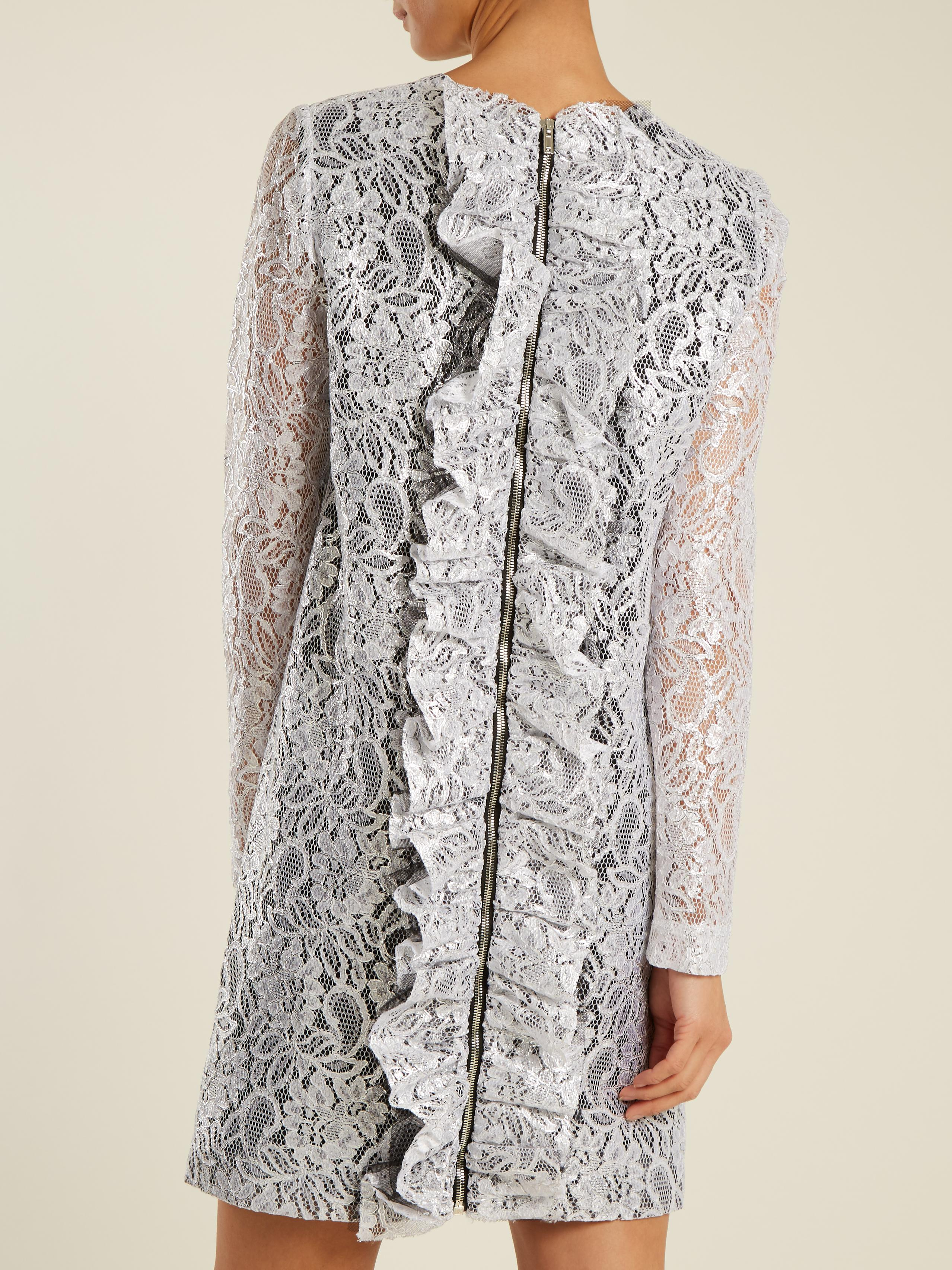 To Buy Coated-lace mini dress Msgm Discount Aaa Cheap Sale Huge Surprise Cheap Sale Online Cheap Sale Geniue Stockist pMPS9