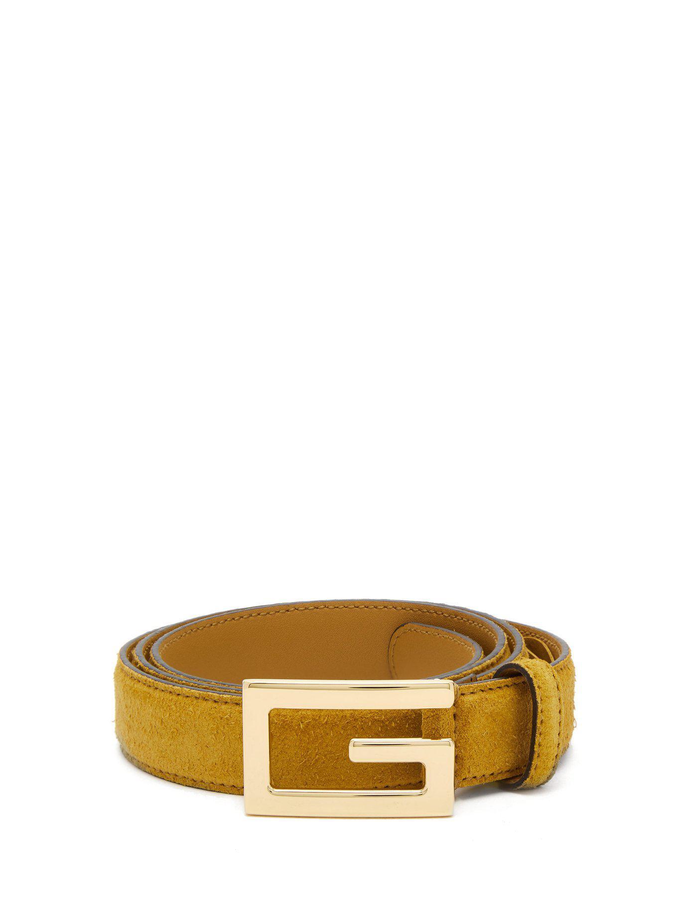 1935bfa070e Gucci Logo Buckle Suede Belt for Men - Save 23% - Lyst