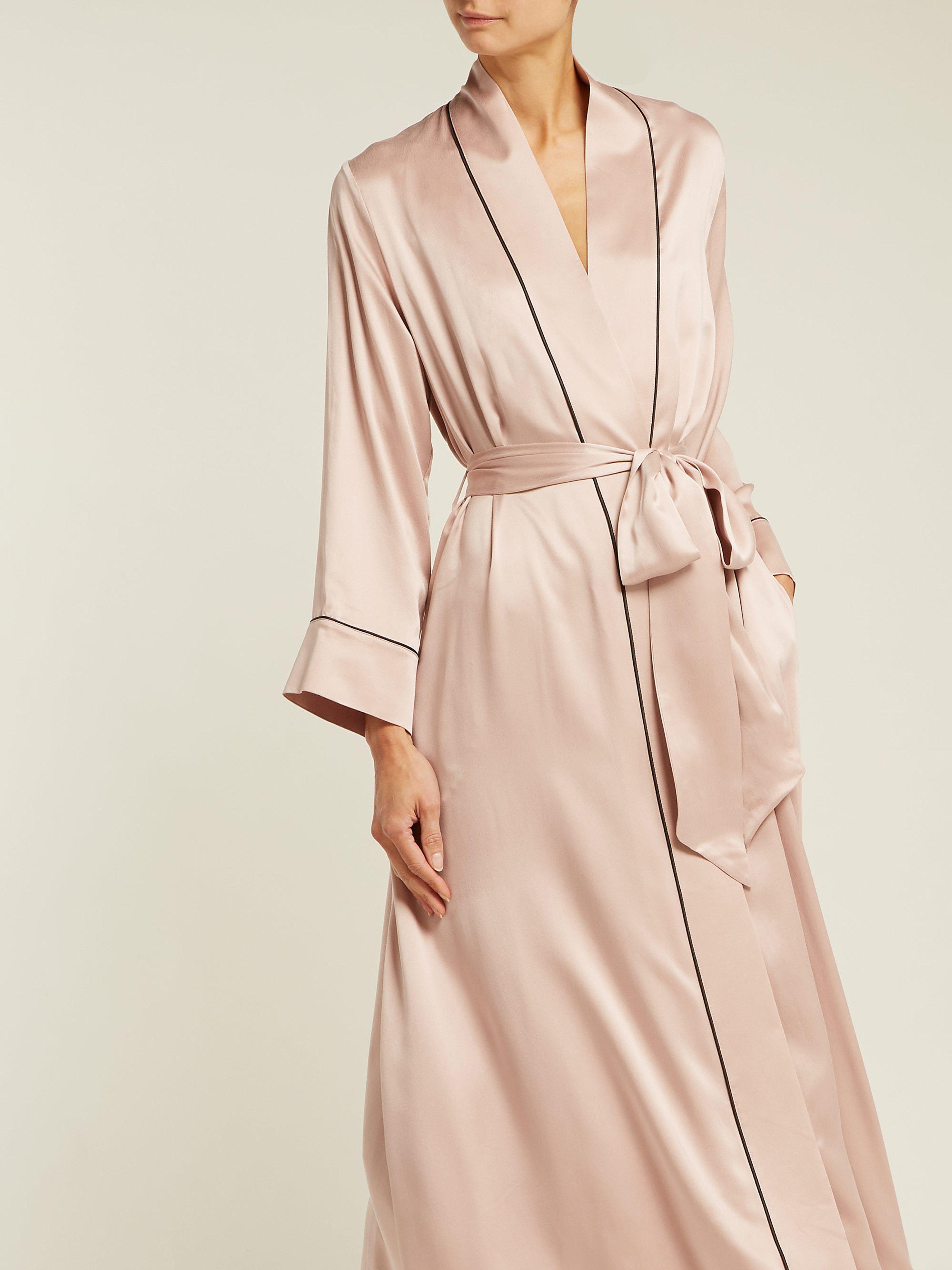 703b1ef0e0 Morpho + Luna Jade Silk Robe in Pink - Lyst