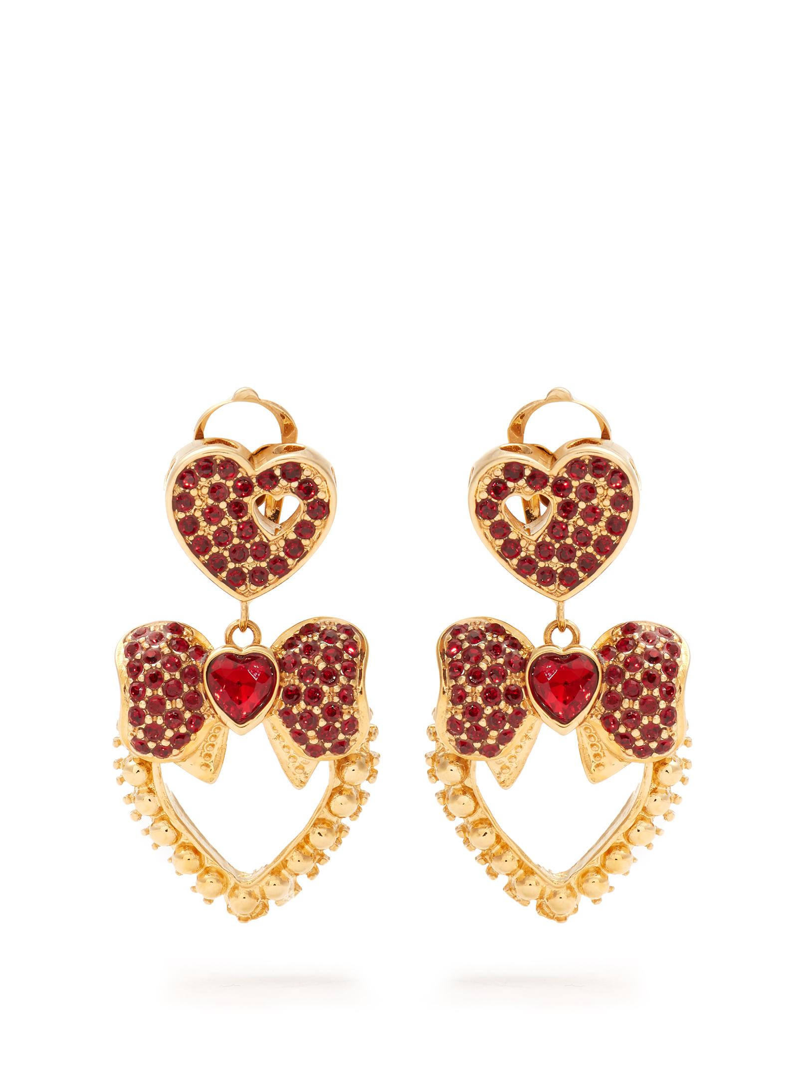 Dolce & Gabbana Heart-drop earrings p7zRfCT