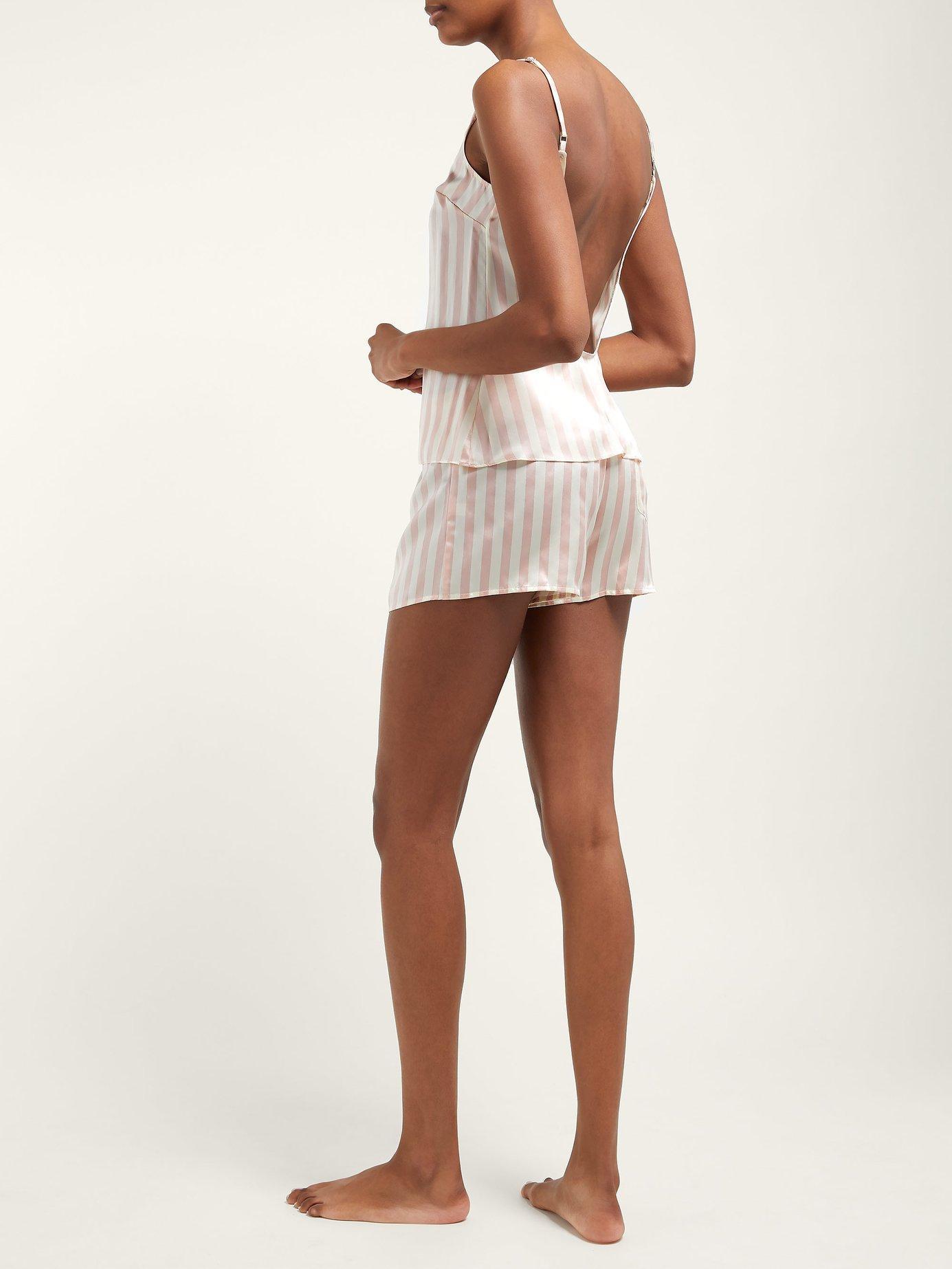Morgan Lane - Multicolor Corey Striped Silk Pyjama Shorts - Lyst. View  fullscreen 249485d15