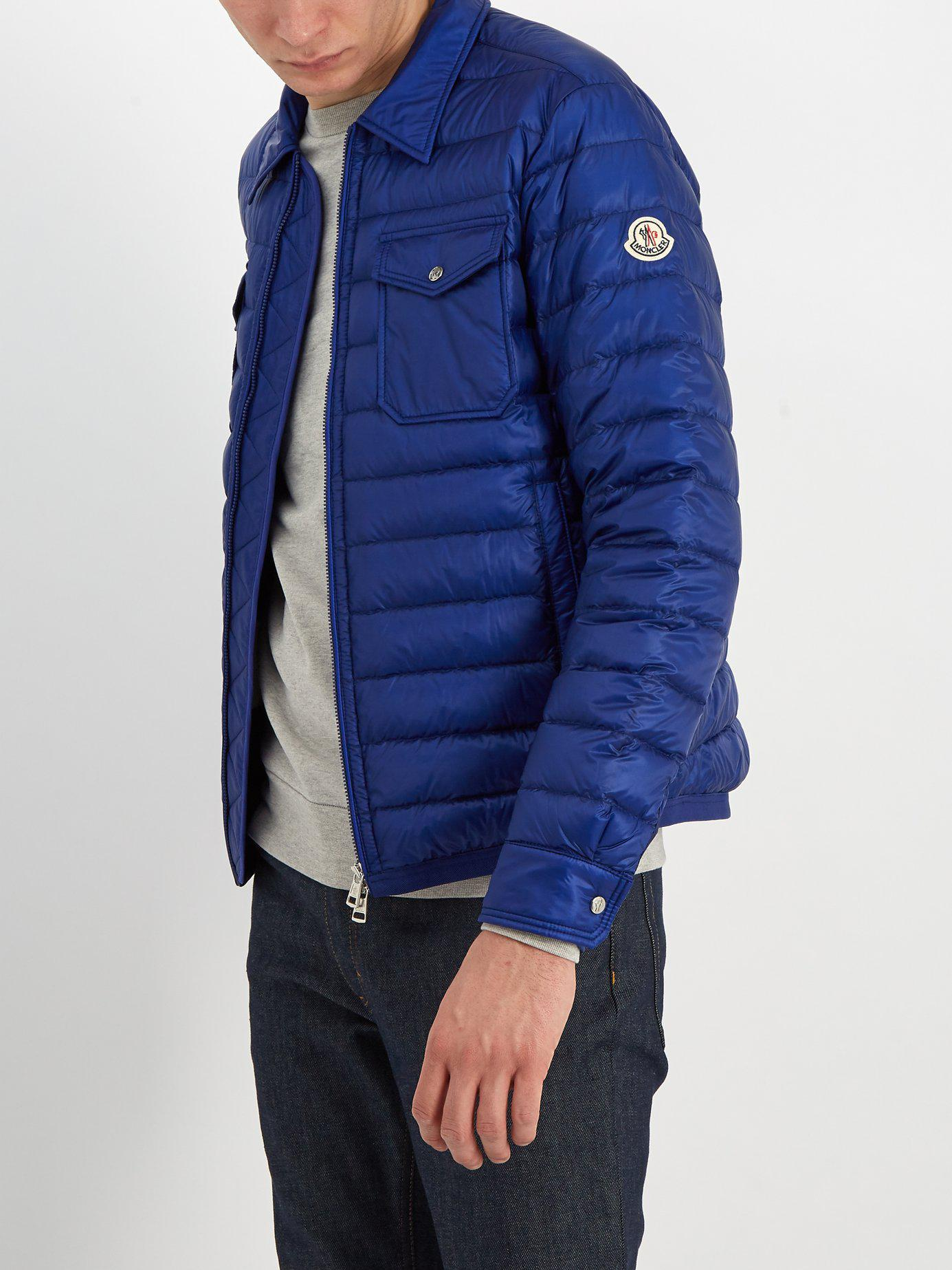 7c5098ff8 Lyst - Moncler Terence Quilted Down Jacket in Blue for Men