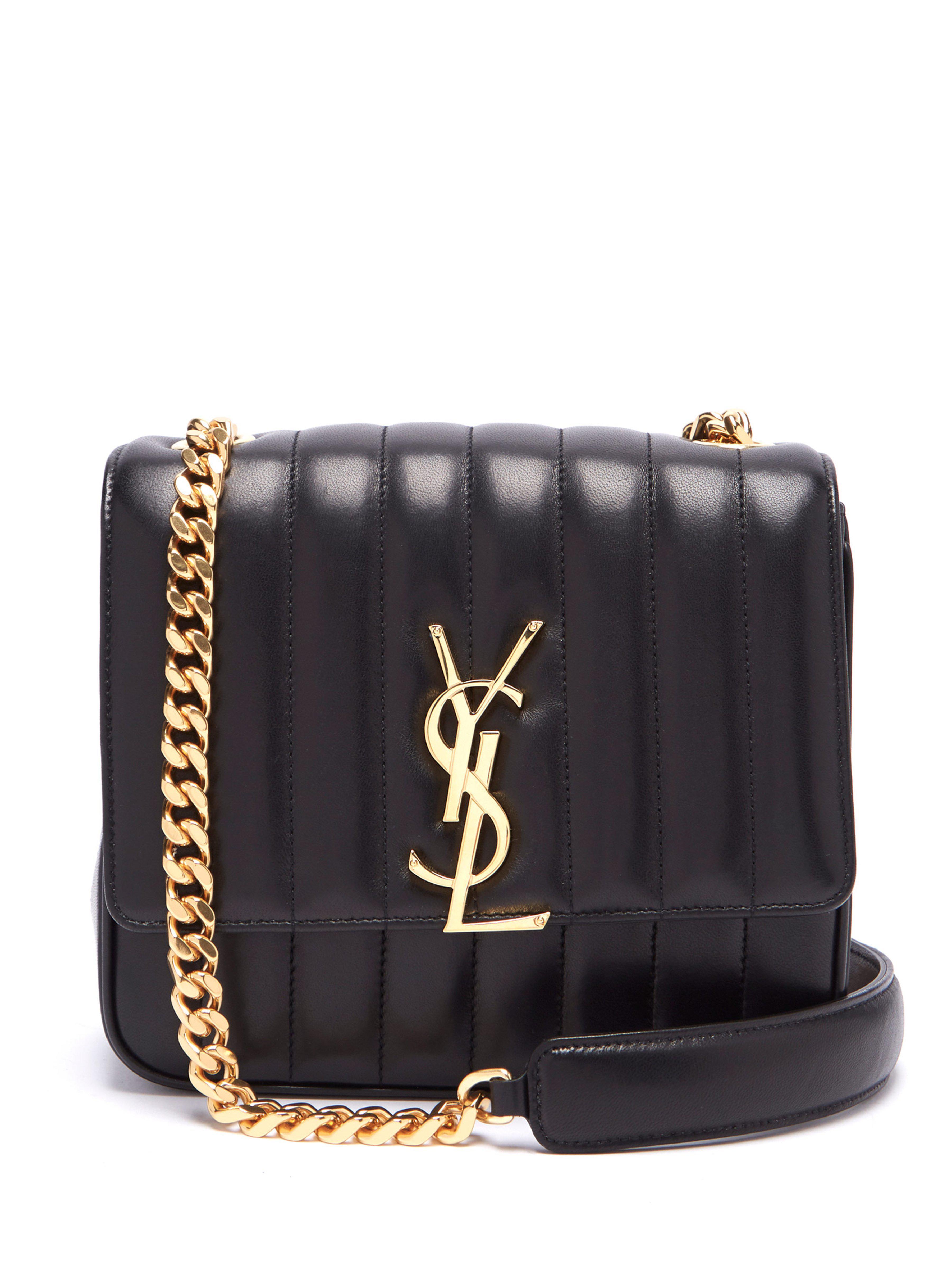 Saint Laurent Large Vicky Leather Crossbody Bag in Black - Save ... c02857ff371