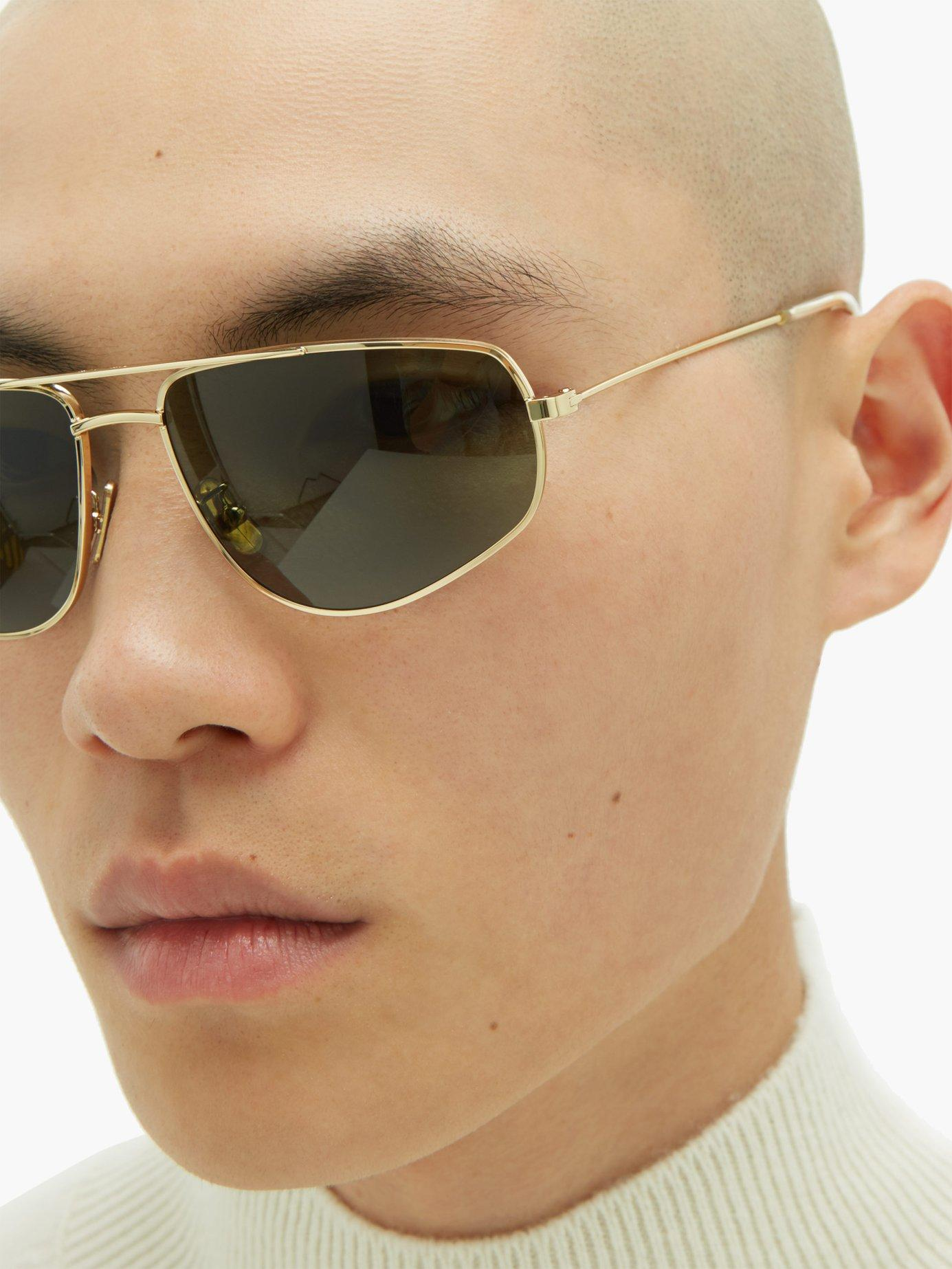 697a383f09 Céline Aviator Gold Tone Metal Sunglasses in Metallic for Men - Lyst