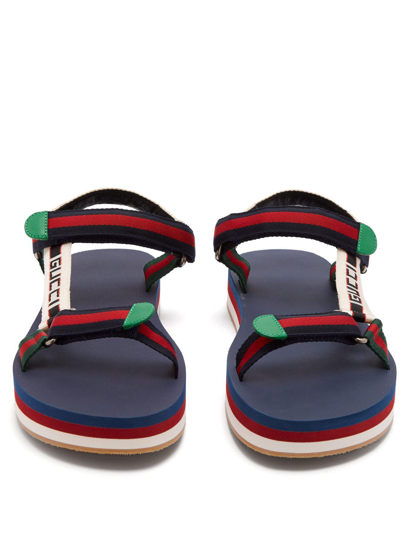 37834bcbf4621 Lyst - Gucci Bedlam Logo Strap Sandals for Men