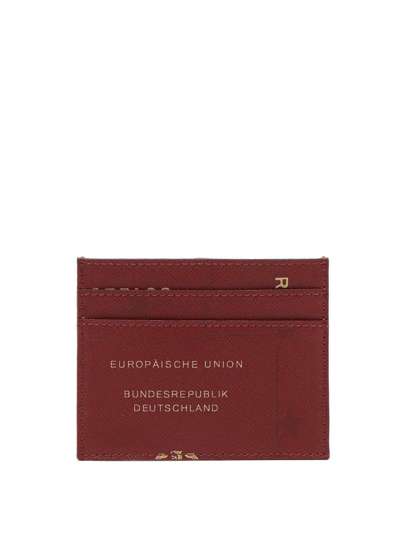 48e9ce346cb Lyst - Vetements Leather Passport Print Cardholder for Men