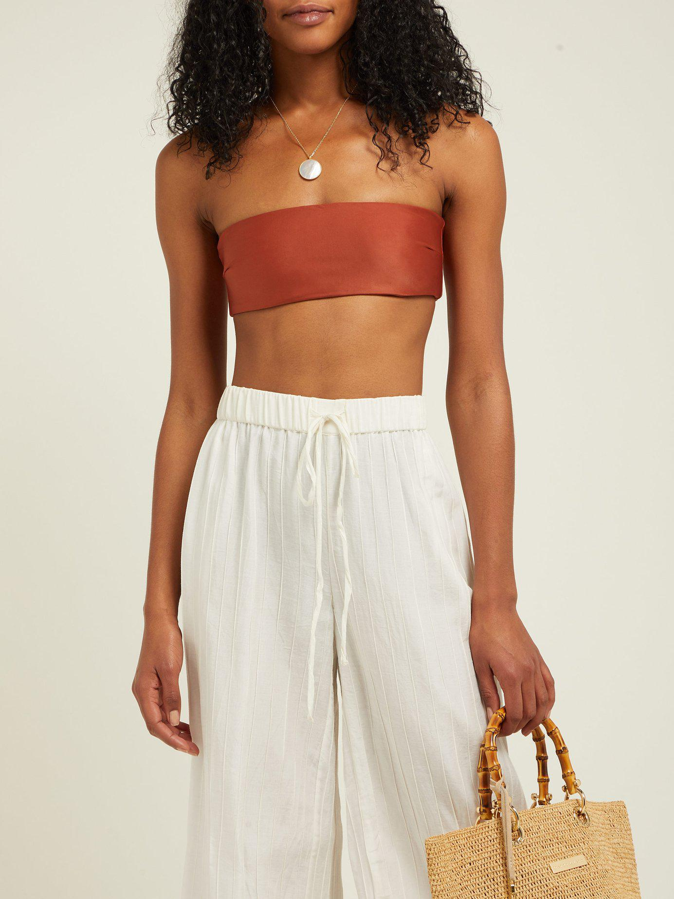 138db7fb11 Lyst - Haight Marcella Two Tone Bandeau Bikini Set in Brown