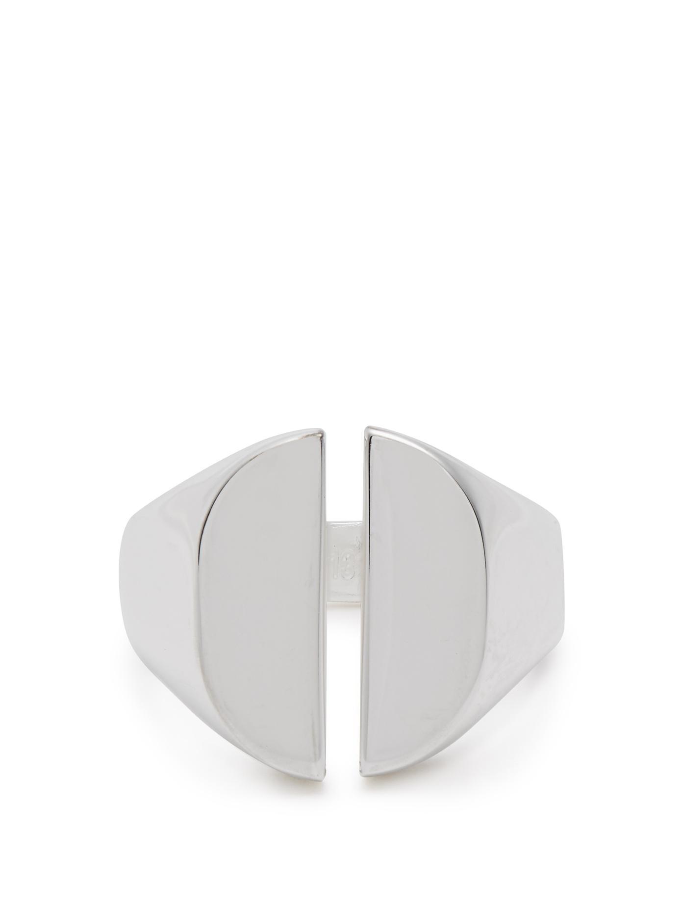 Maison Martin Margiela Cut-out silver signet ring m2hzhTAy5V