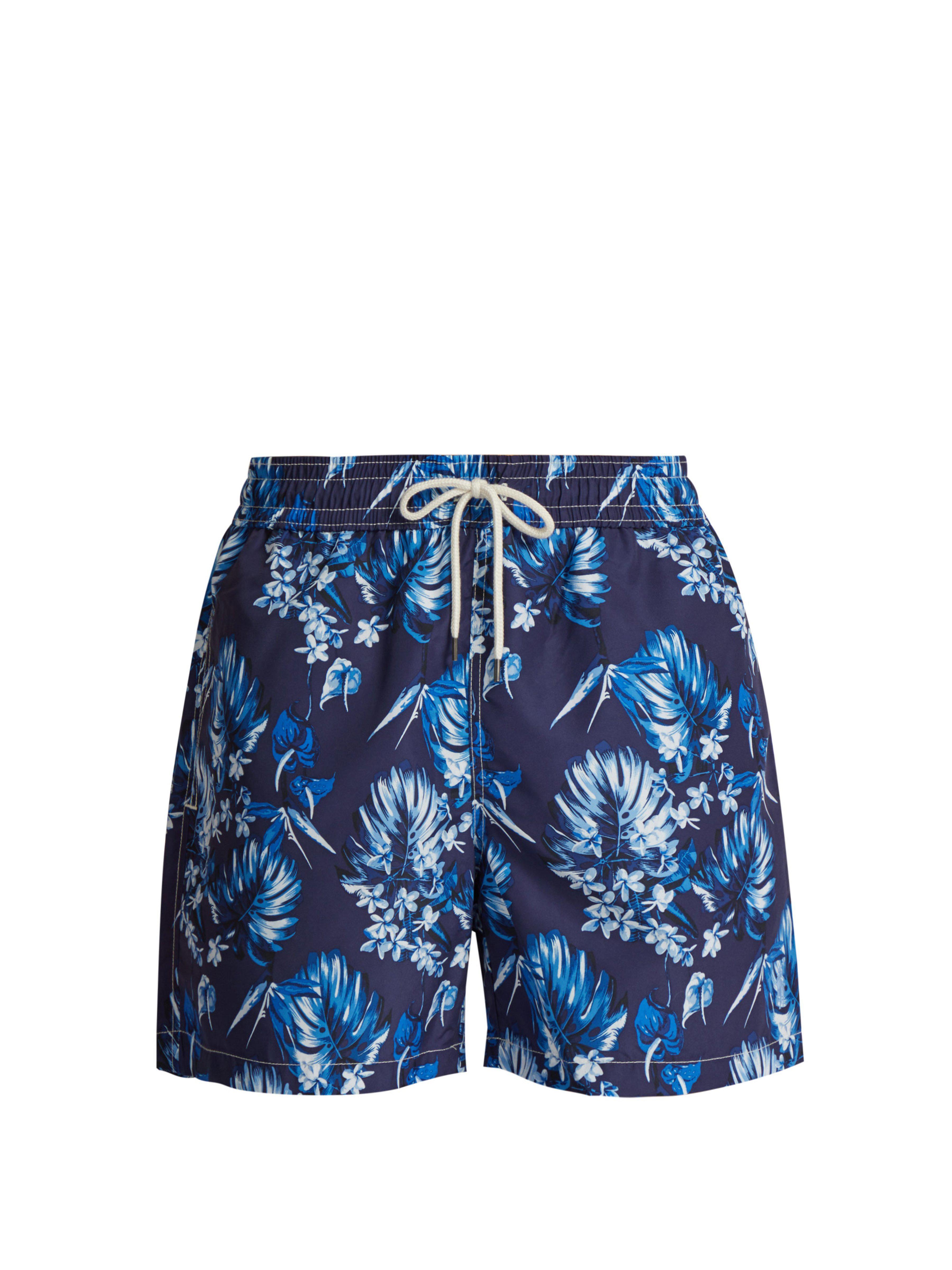 Polo Ralph Lauren. Short de bain à imprimé floral homme de coloris bleu a2eb26a54dc