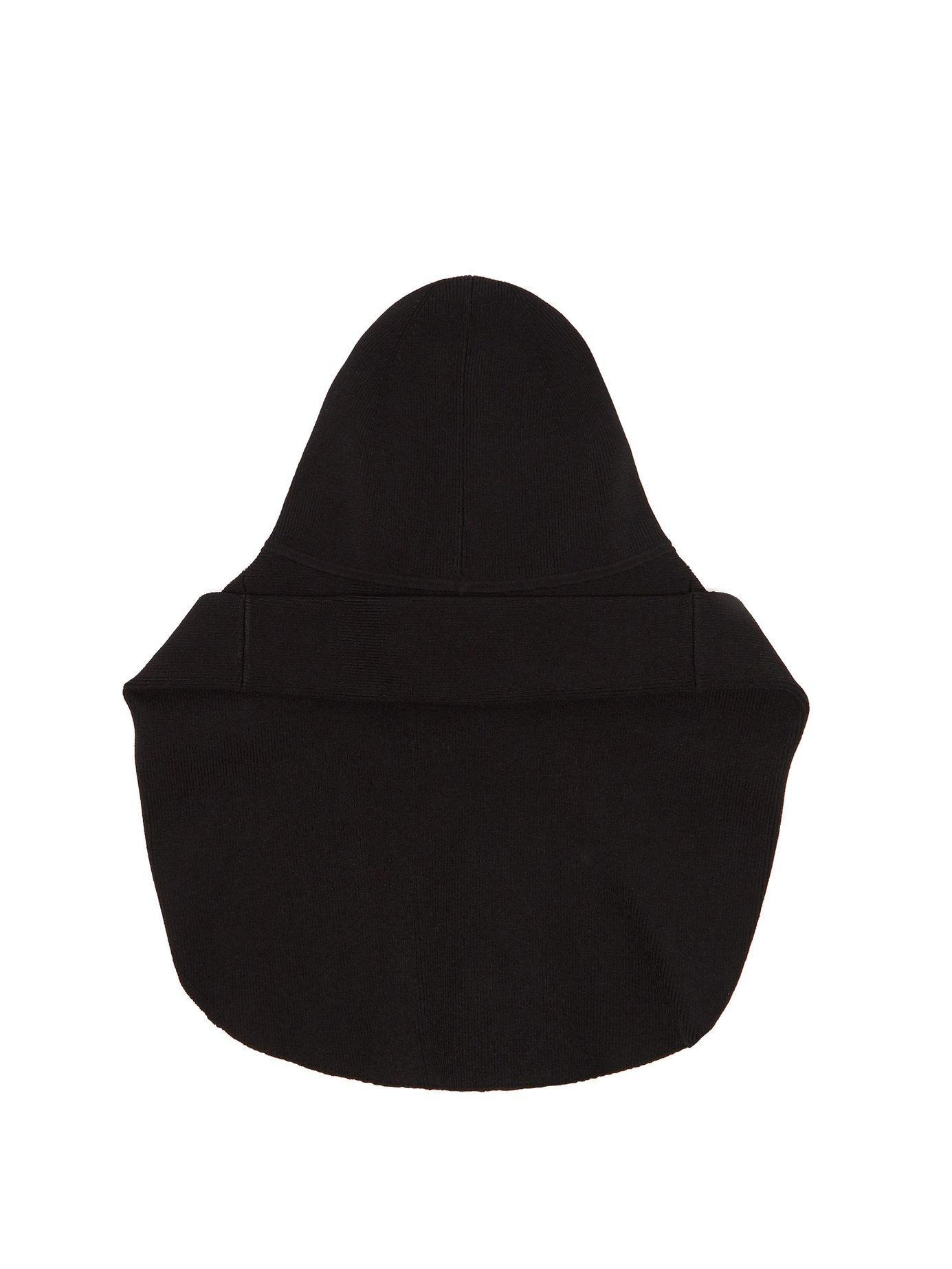 c10a2c3784b Lyst - Burberry Logo Print Knitted Rain Hat in Black for Men