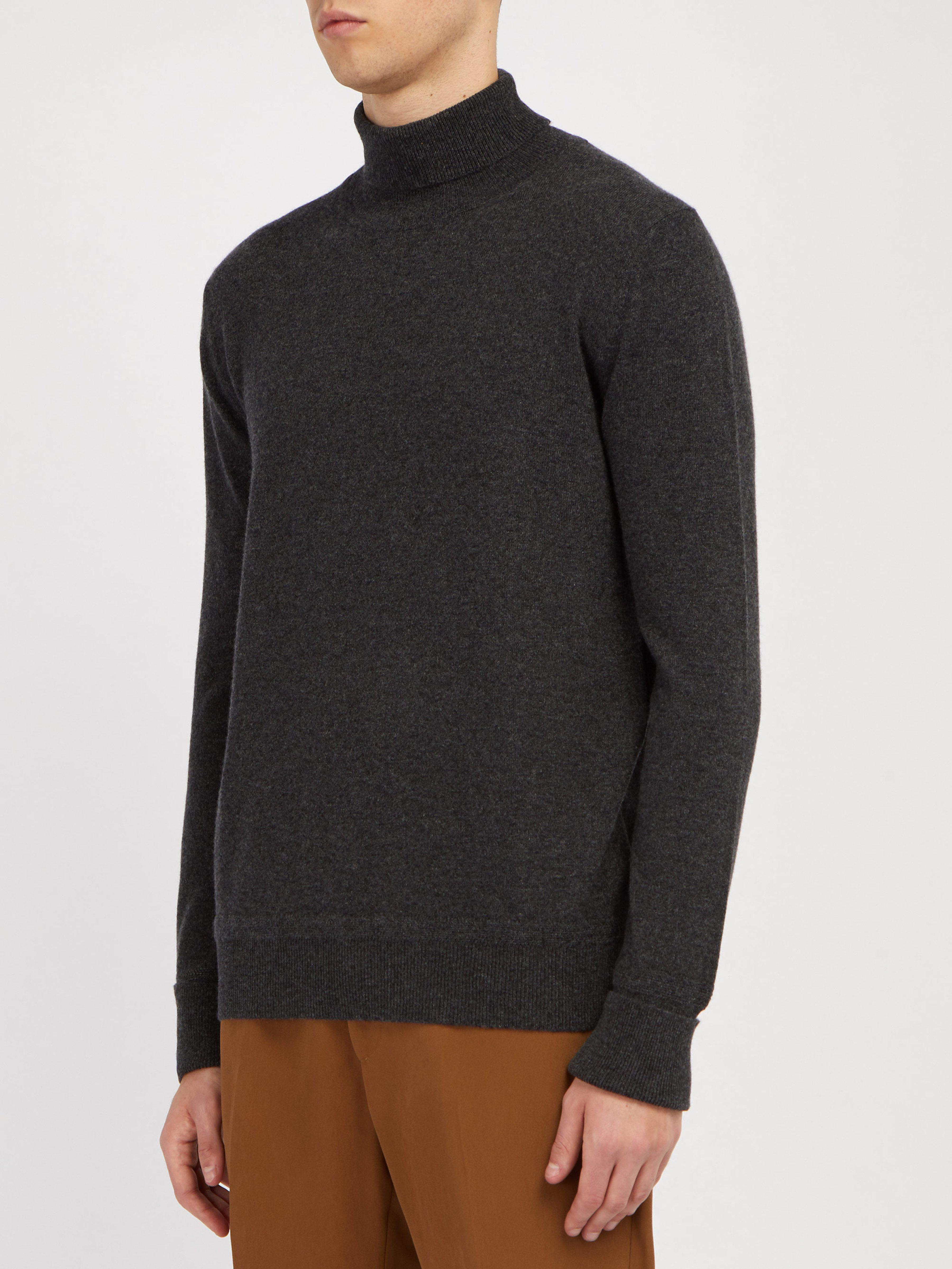 87ce94c854c2ae SALLE PRIVÉE Arvid Cashmere Roll Neck Sweater in Gray for Men - Lyst