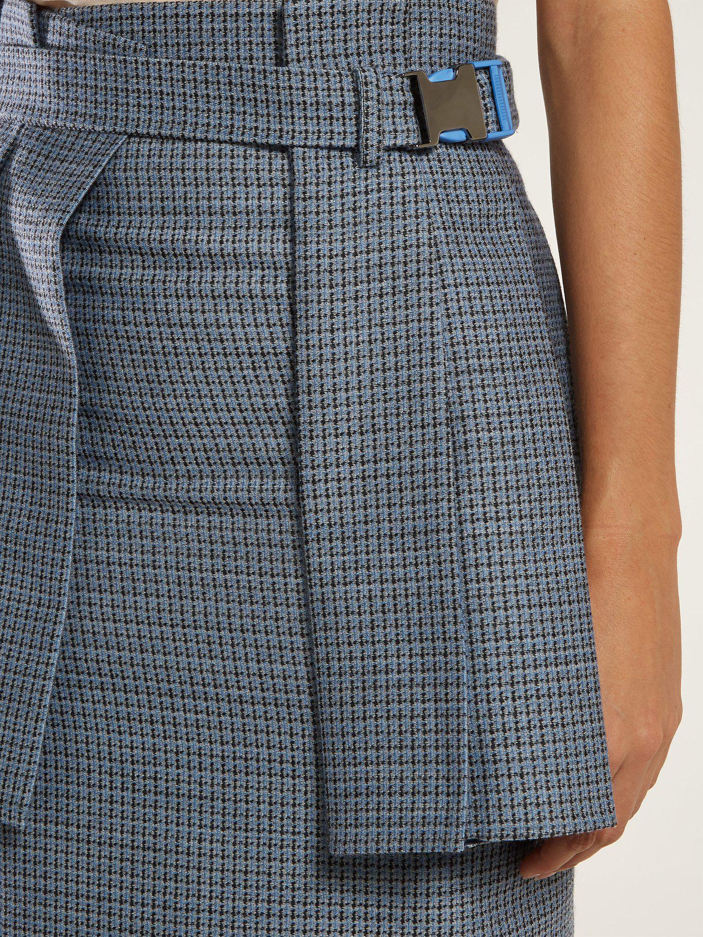79c961ccf7 Fendi - Blue Pleated Panel Wool Blend Tweed Pencil Skirt - Lyst. View  fullscreen