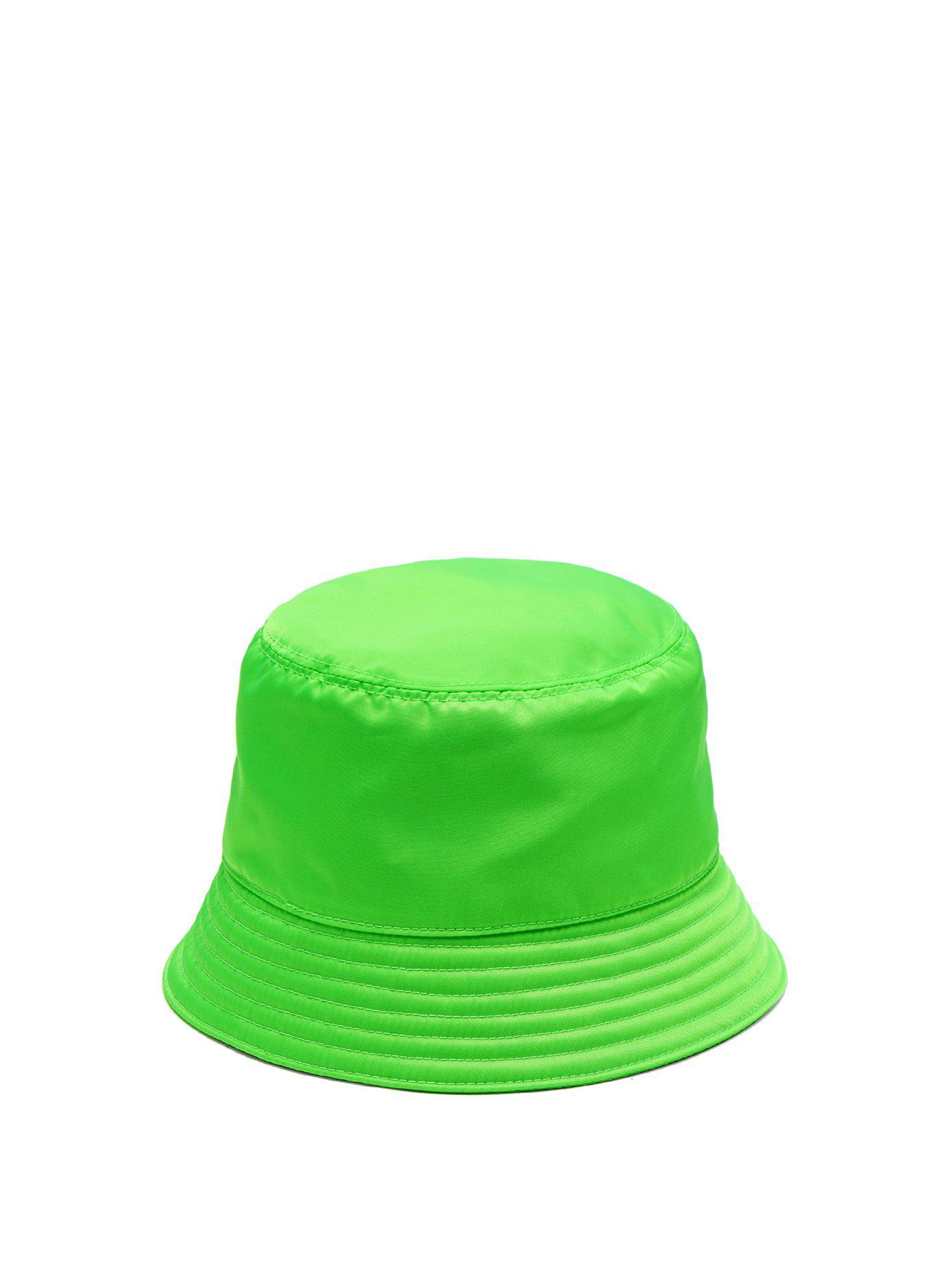 7327477fce1 Lyst prada triangle logo bucket hat in green for men jpg 1385x1846 Prada  sun hat