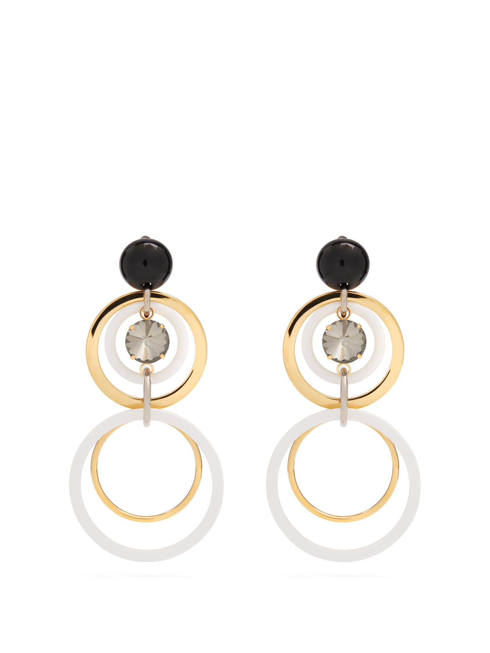 Marni Circle-drop crystal-embellished earrings MzDVlM56bM