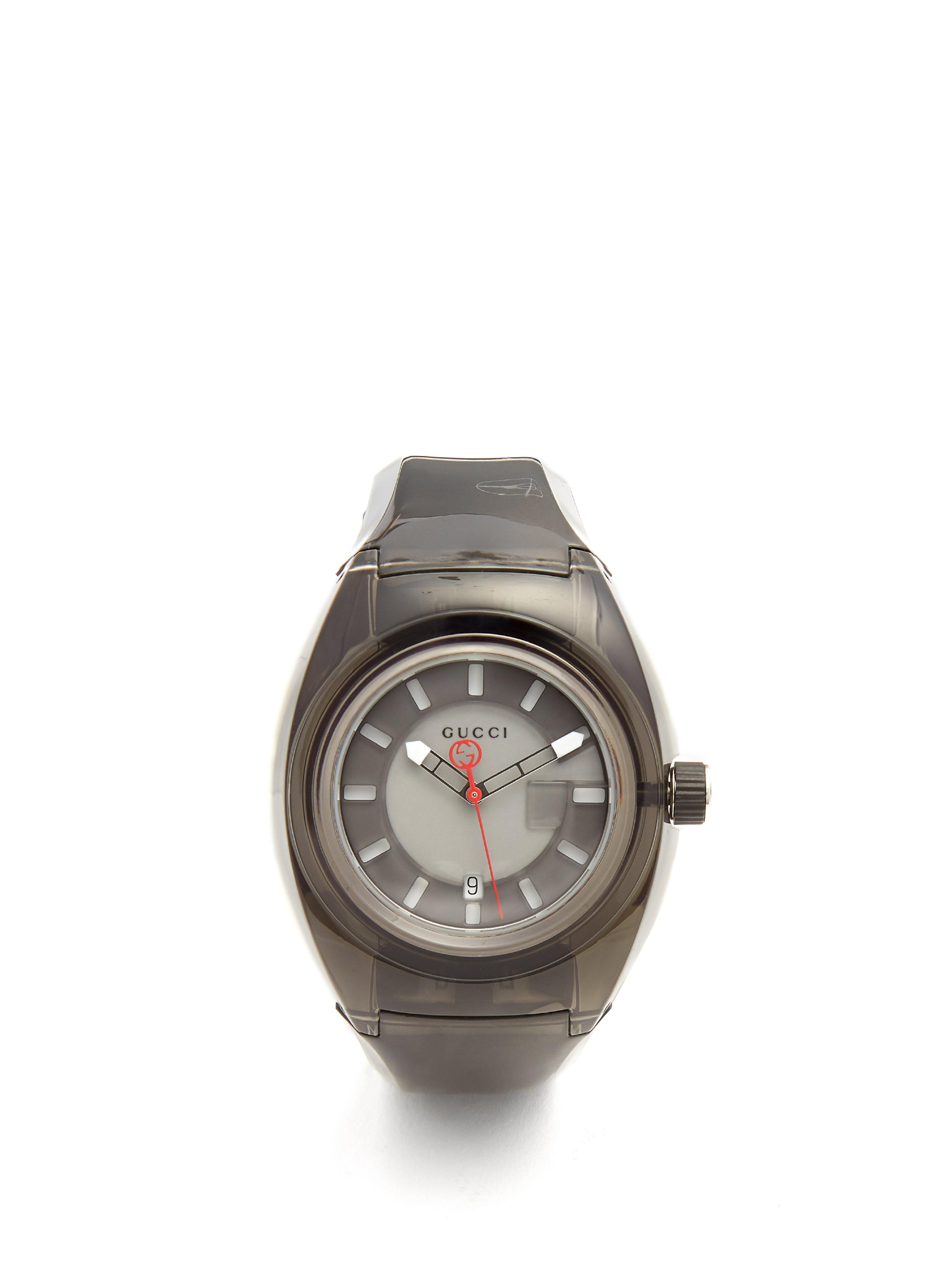 c5827cd2feb Gucci - Black Sync Rubber Watch for Men - Lyst. View fullscreen