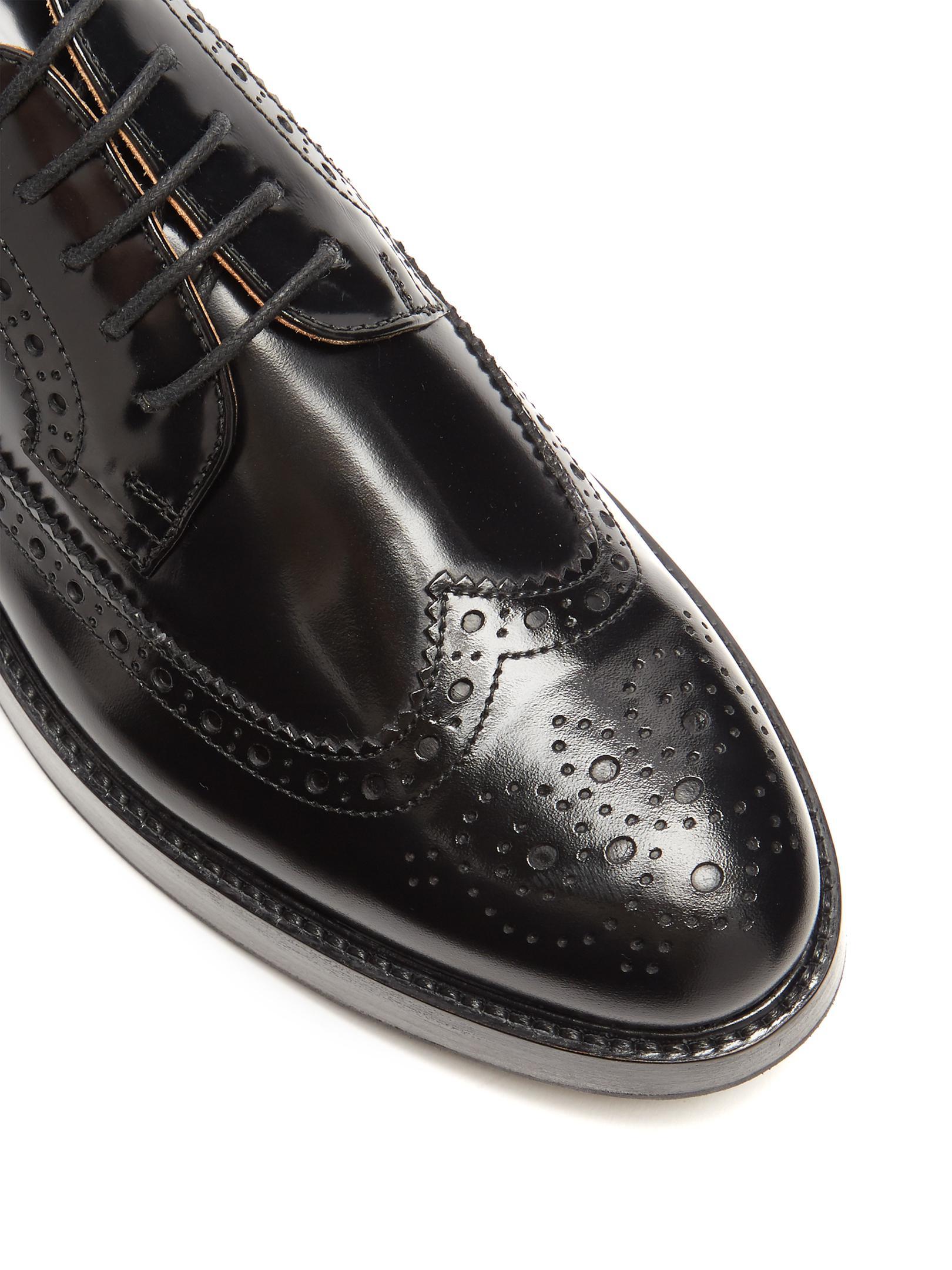 5b76cf2c992 Lyst - Church s Opal Leather Flatform Brogues in Black