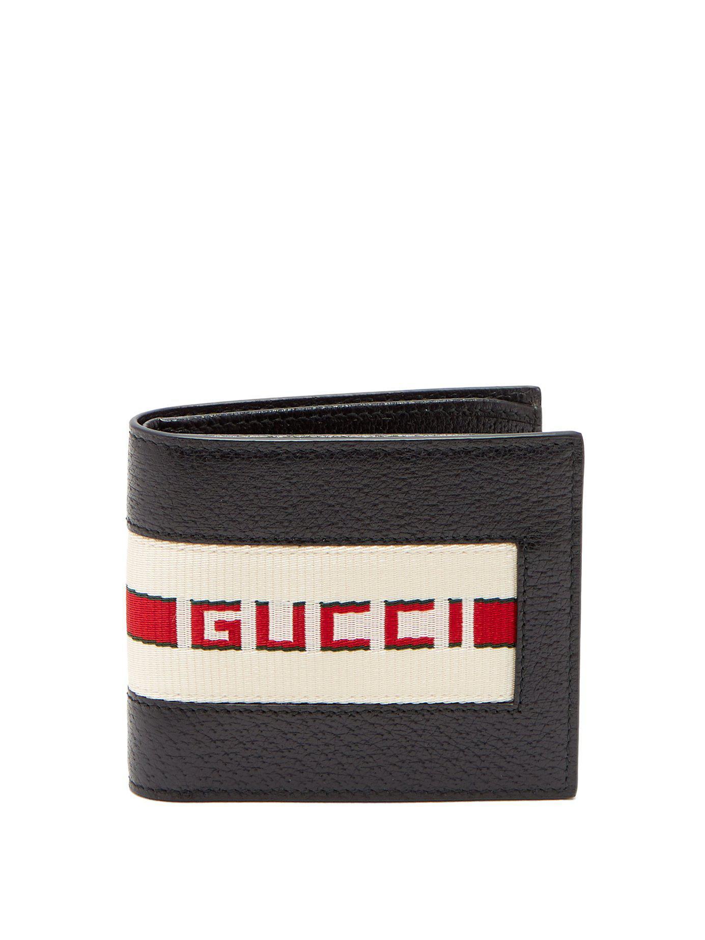 46b574fe1ea Lyst - Gucci Black Logo Band Wallet in Black for Men - Save 23%