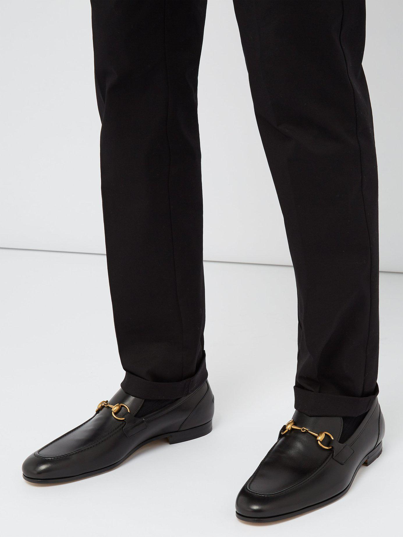 8d3e04f9949 Lyst - Gucci Jordaan Leather Loafers in Black for Men