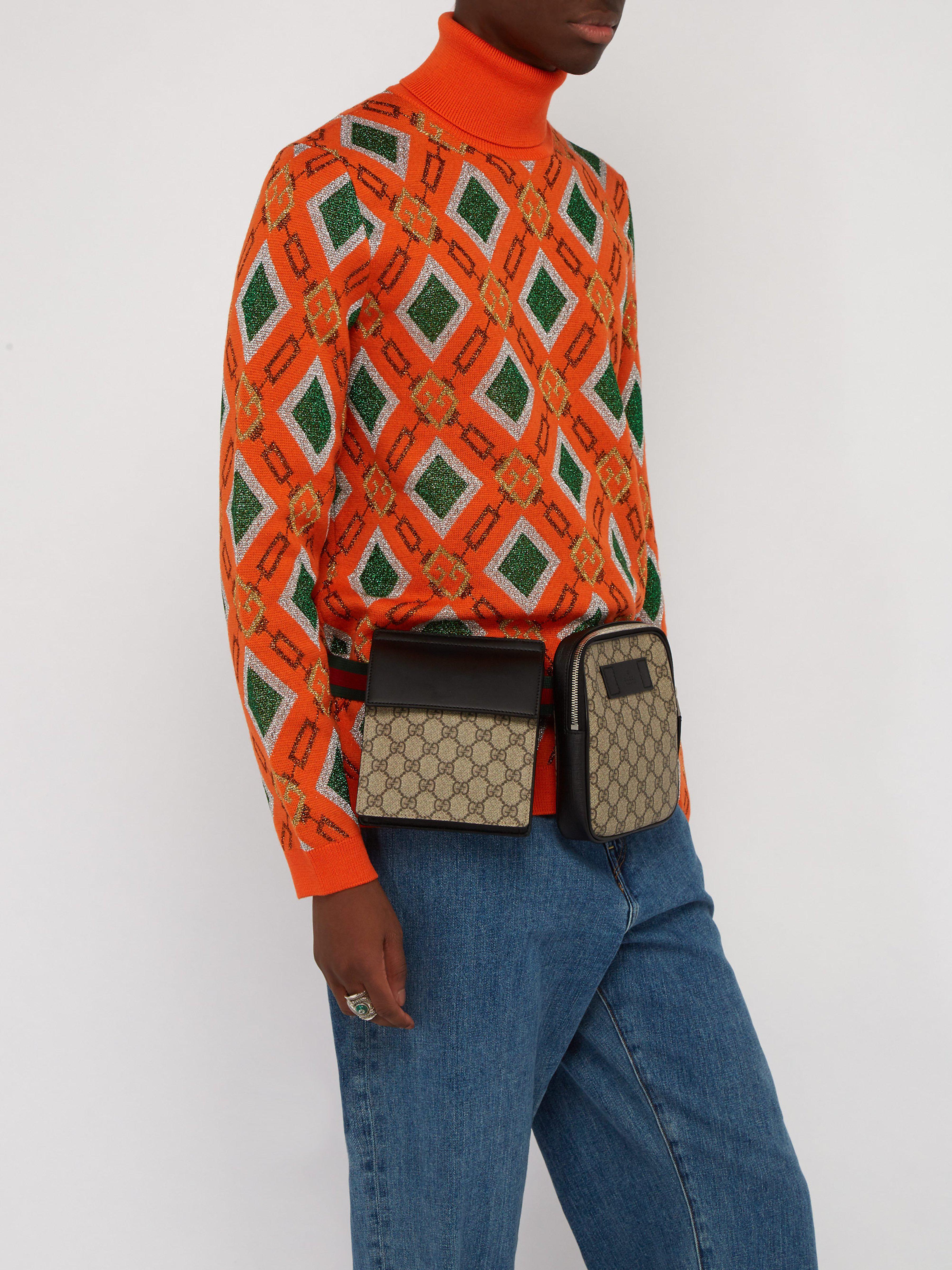 Gucci - Multicolor Sac ceinture à bandes Web Suprême GG for Men - Lyst.  Afficher en plein écran 3b2e556b73e