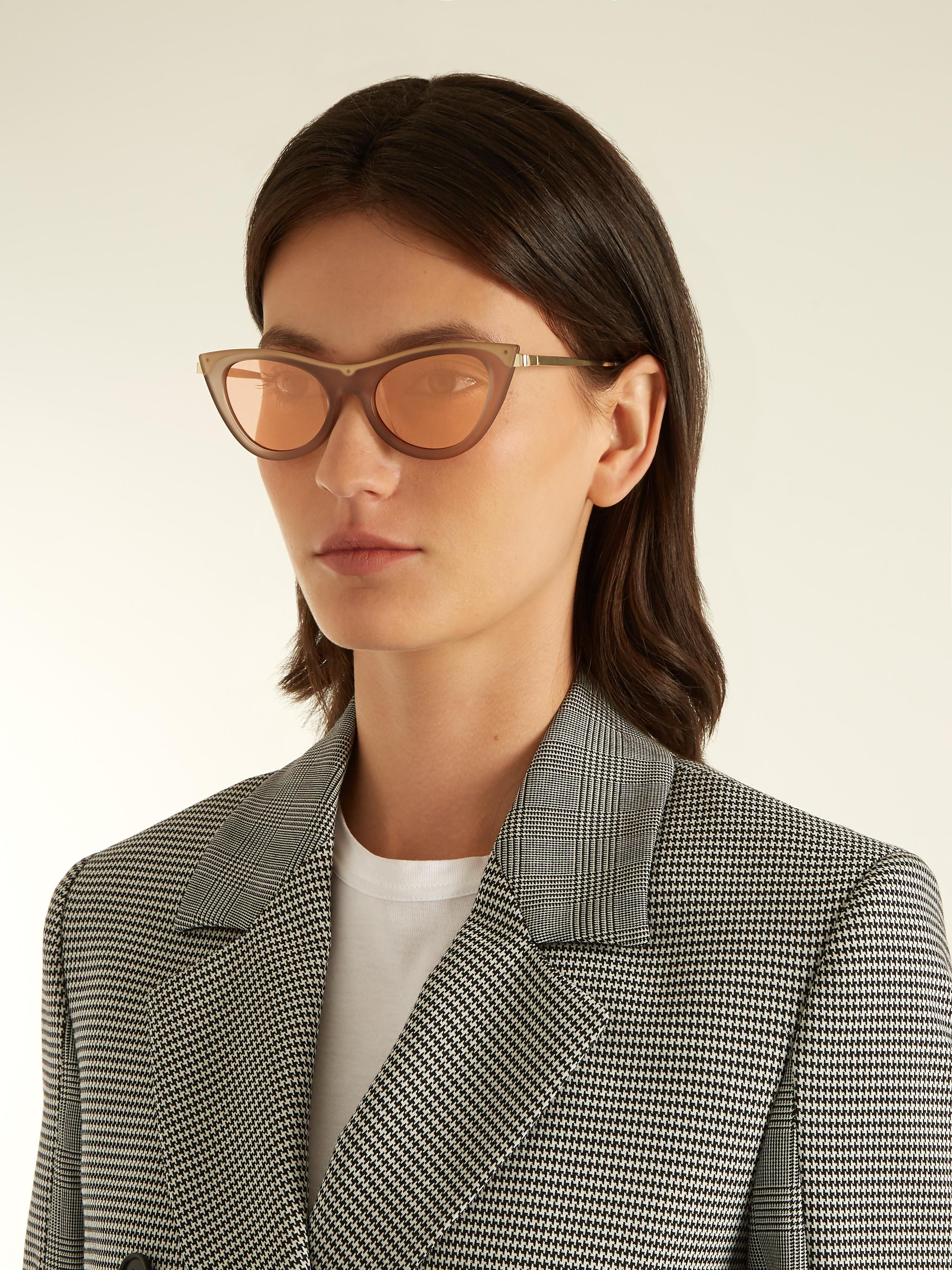 0f6e1a90e5c Lyst - Le Specs Enchantress Cat-eye Sunglasses in Pink