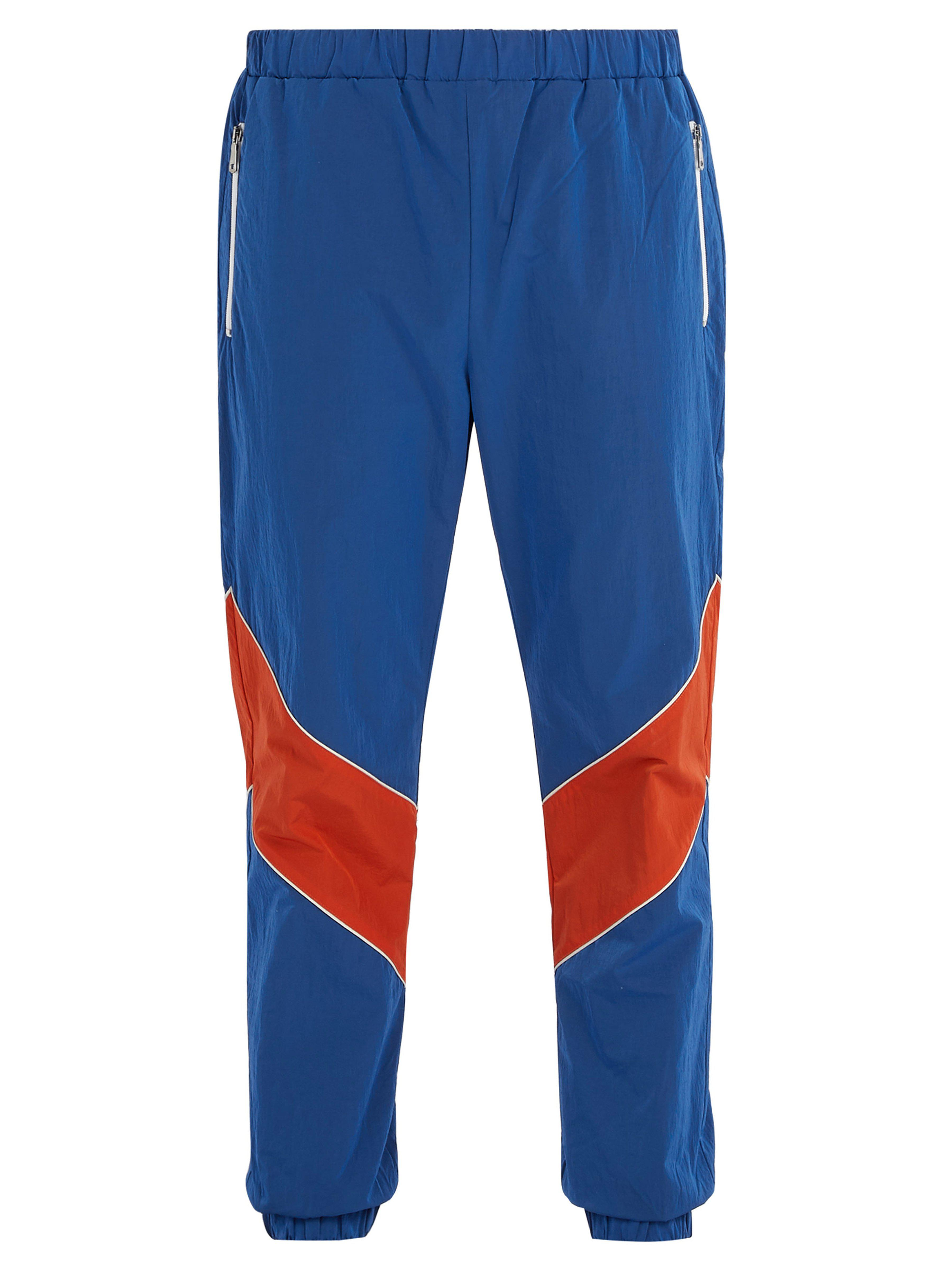 14c3d7aad Gucci Contrast Stripe Track Pants in Blue for Men - Lyst