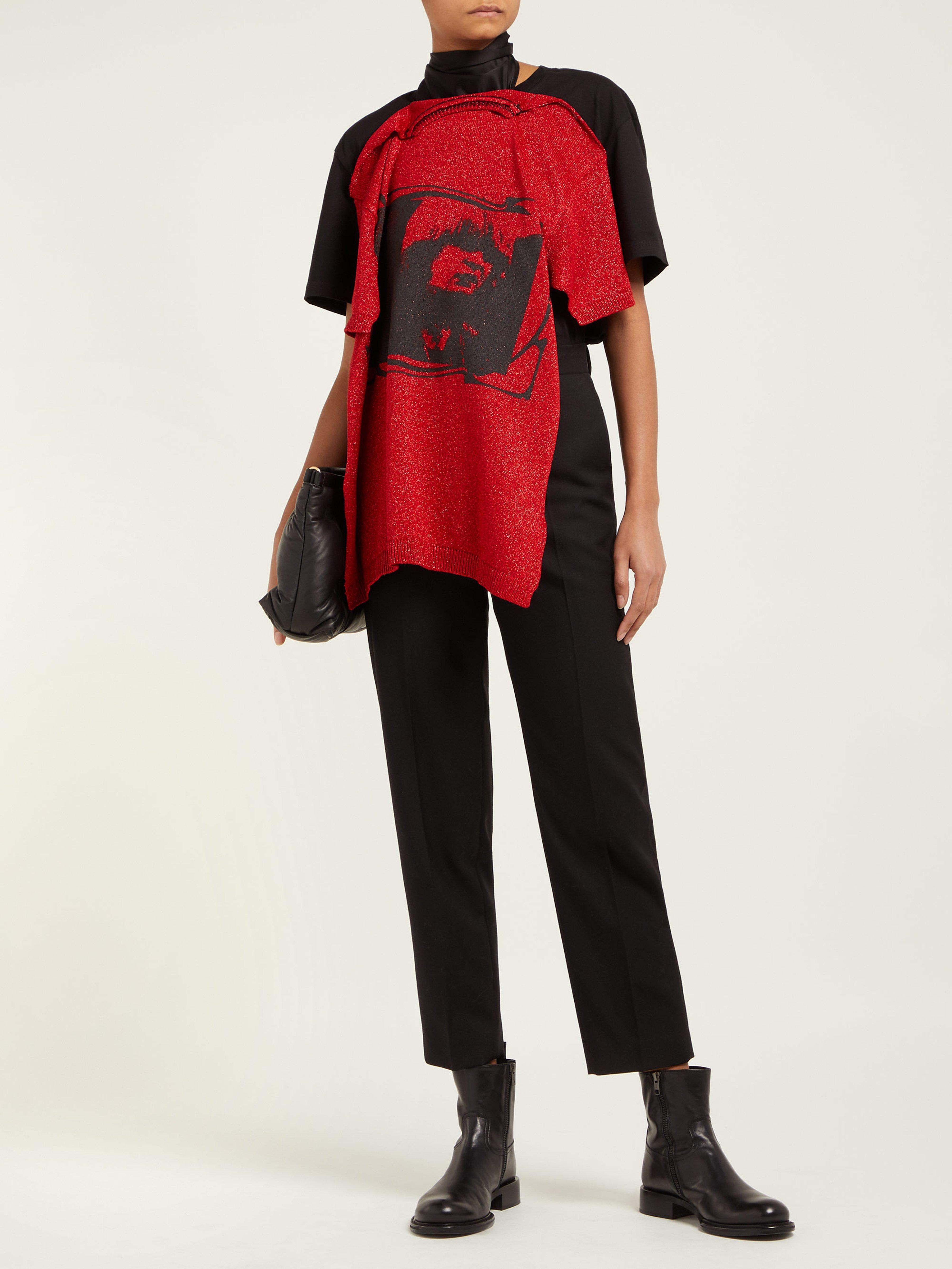 10c7f702354fdb Raf Simons - Red Toyah Print T Shirt Style Scarf - Lyst. View fullscreen