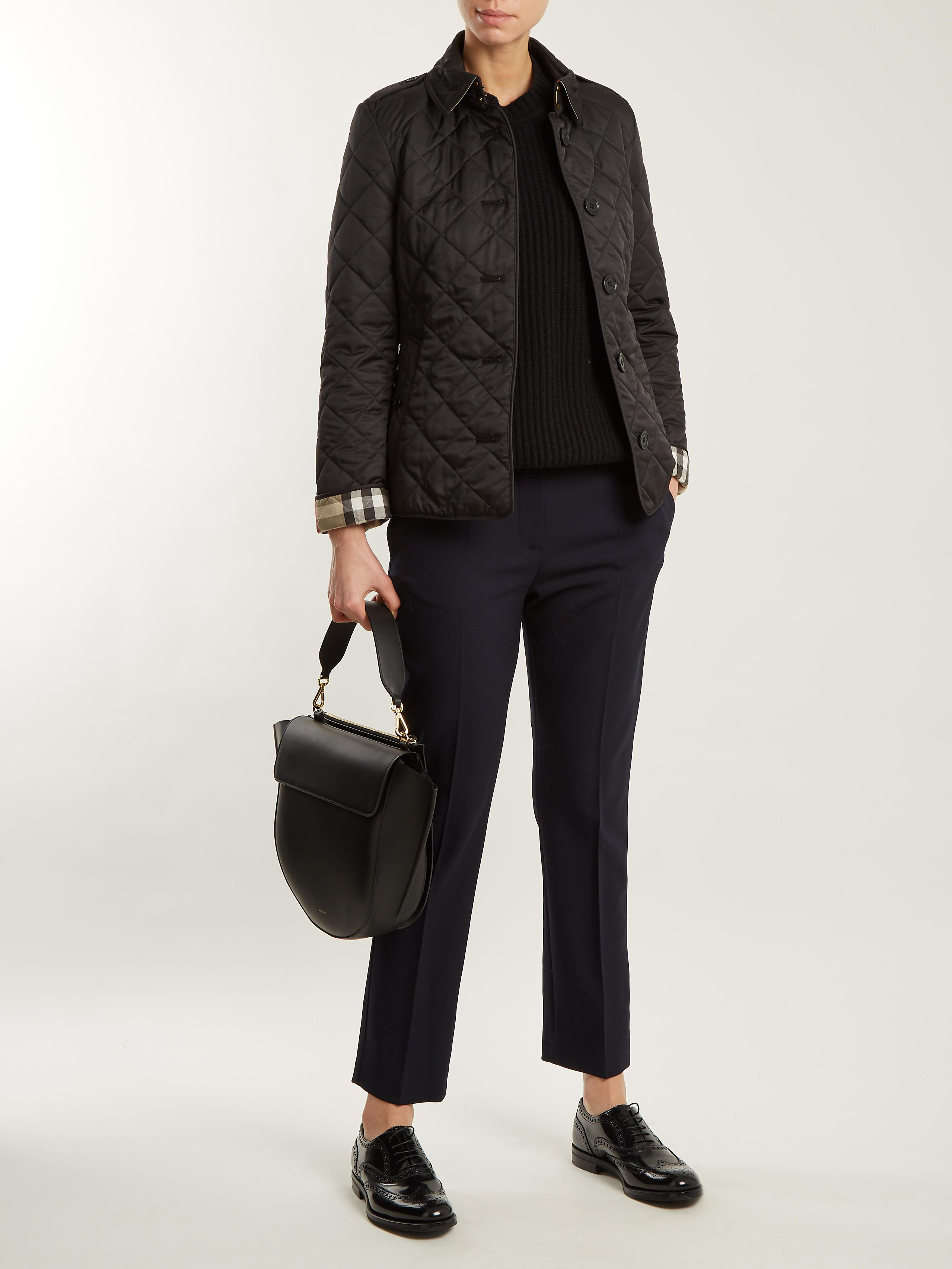 54b96aa90e501 Lyst - Burberry Frankby Quilted Jacket in Black