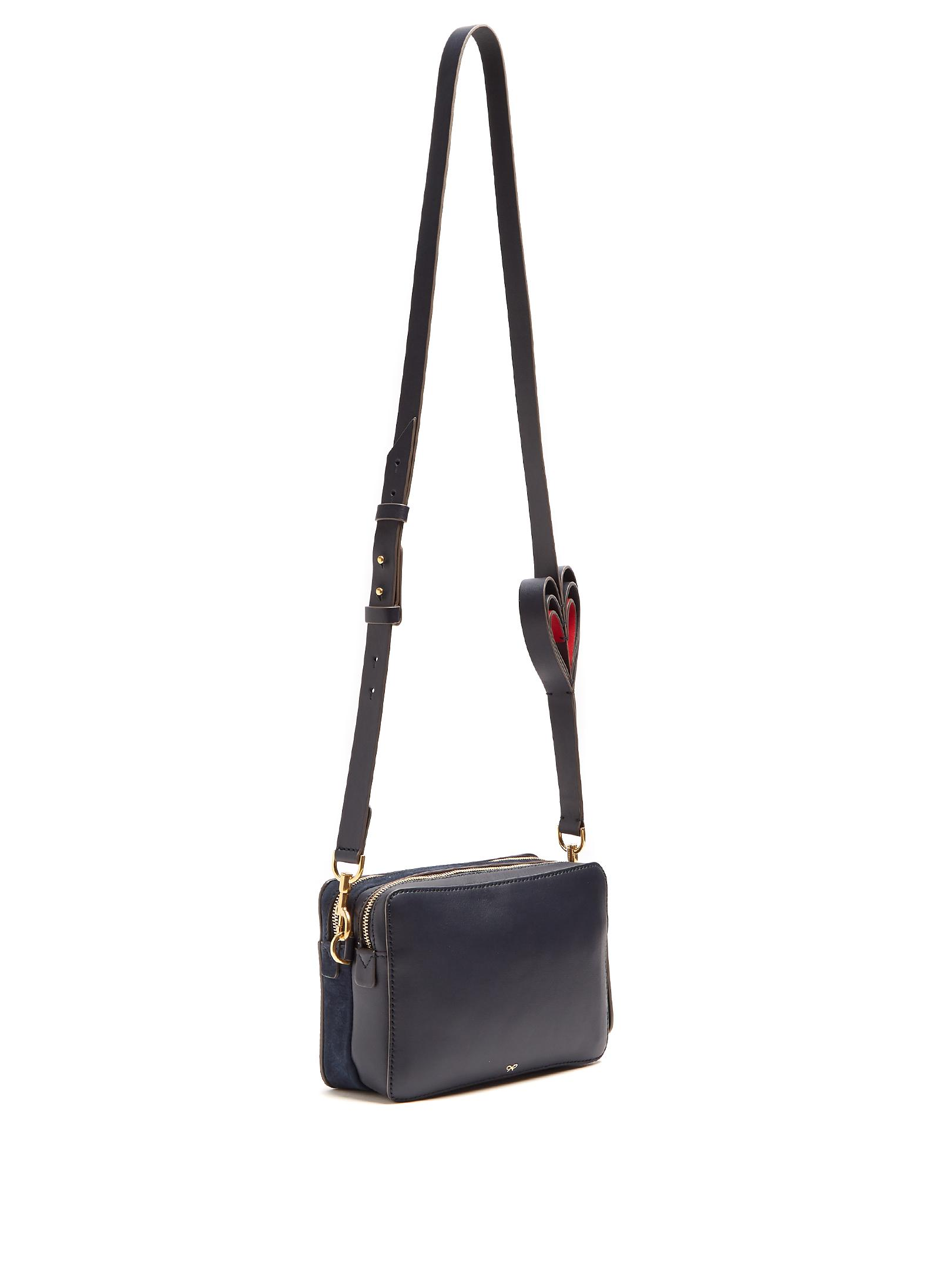 b967c27982 Anya Hindmarch Double Stack Leather Cross-body Bag in Blue - Lyst