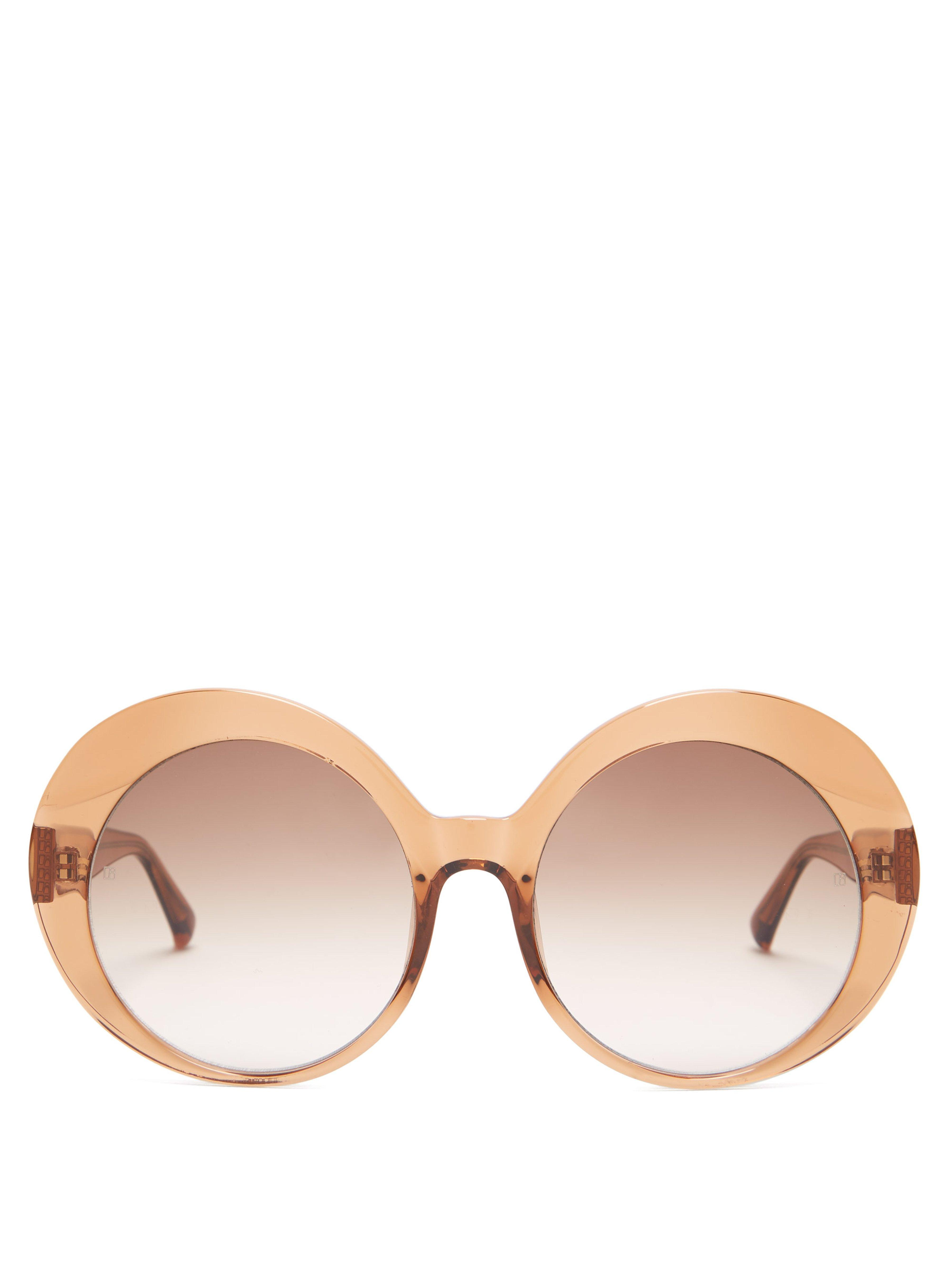 3e562a8578 Linda Farrow Oversized Rounded Acetate Sunglasses in Brown - Lyst
