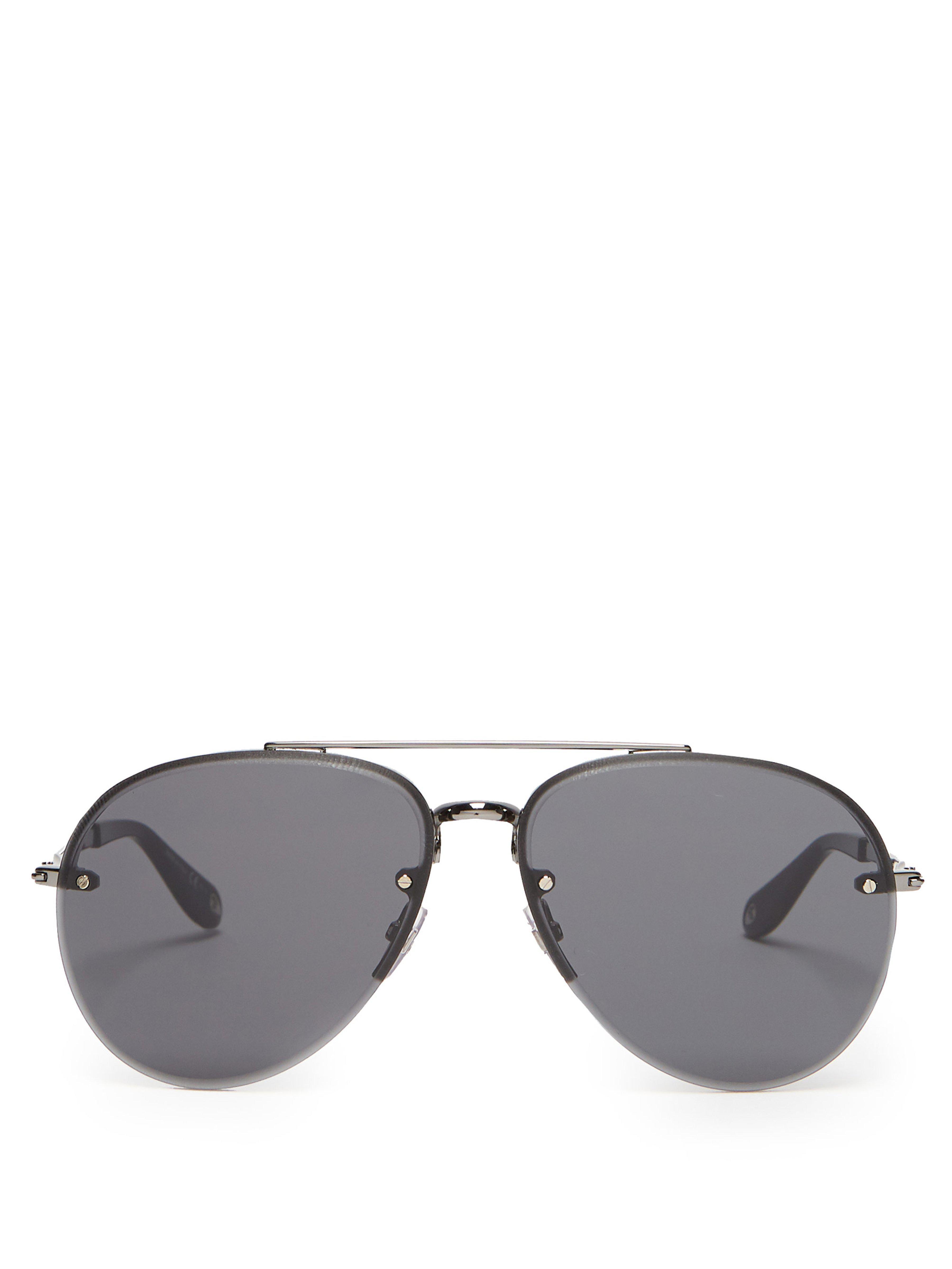 b8c0a815f31fec Lyst - Lunettes de soleil aviateur sans monture Givenchy pour homme ...
