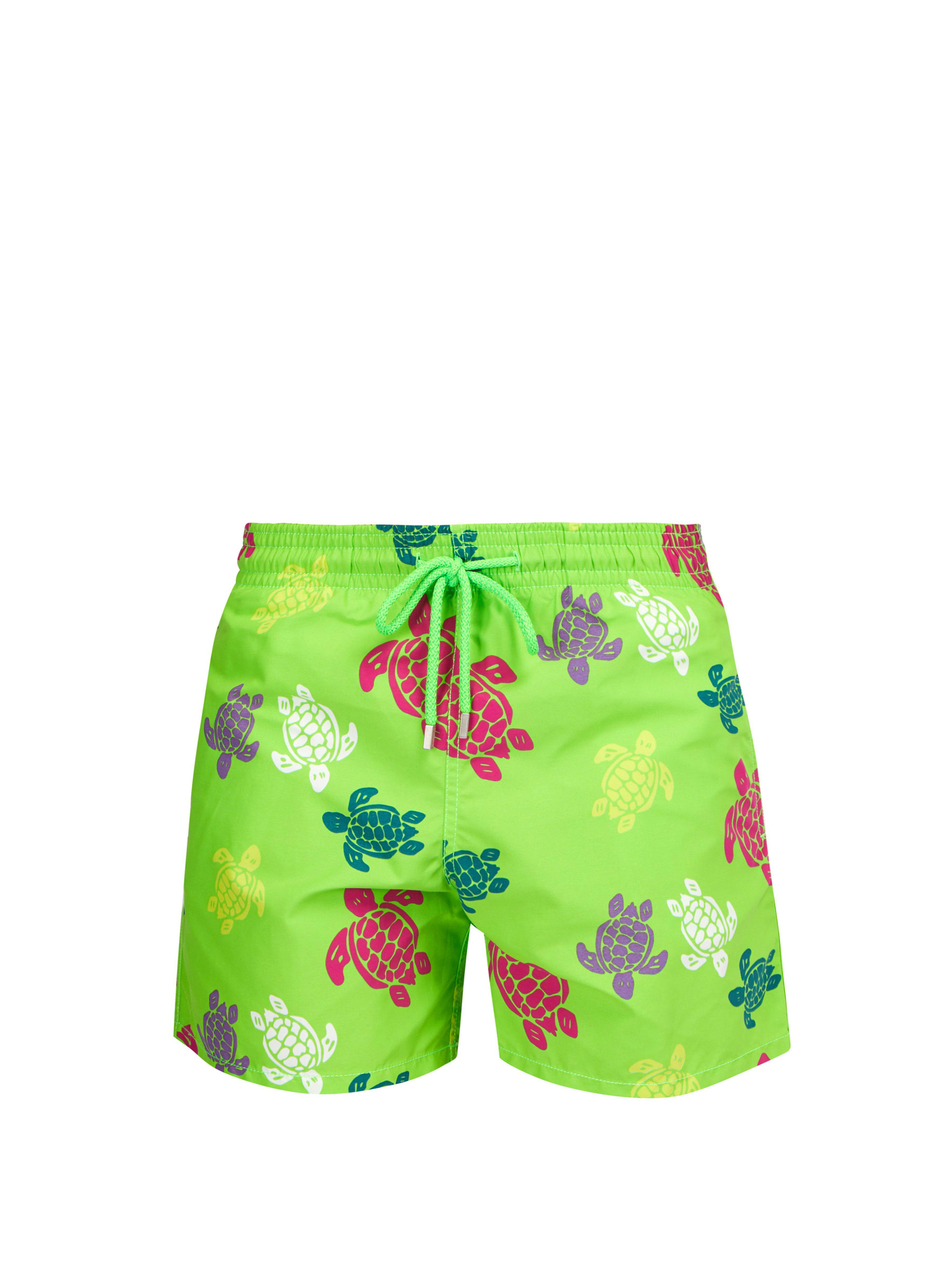 e867afcf50 Vilebrequin Moorea Turtle Print Swim Shorts in Green for Men - Save ...